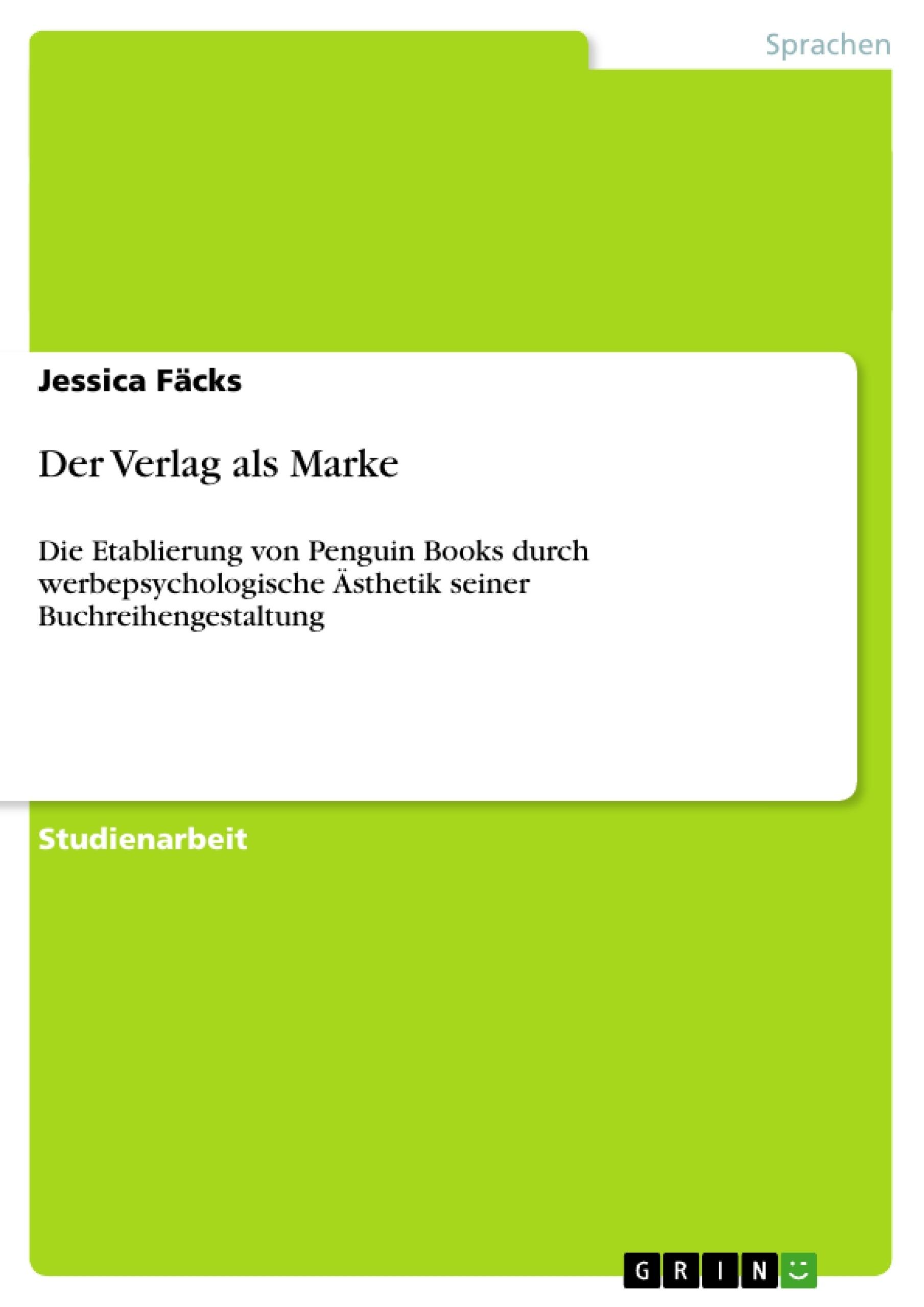 Titel: Der Verlag als Marke