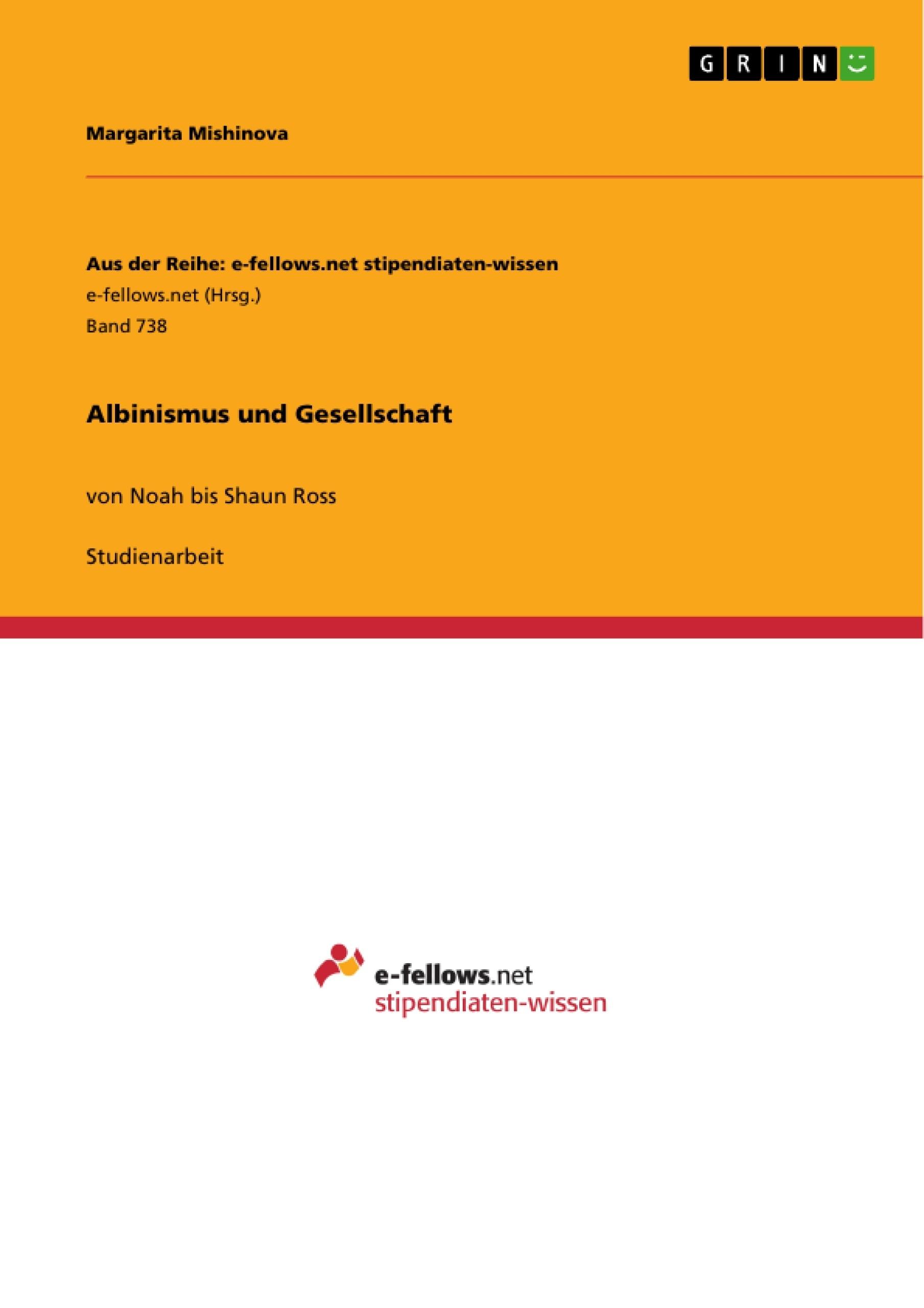 Titel: Albinismus und Gesellschaft