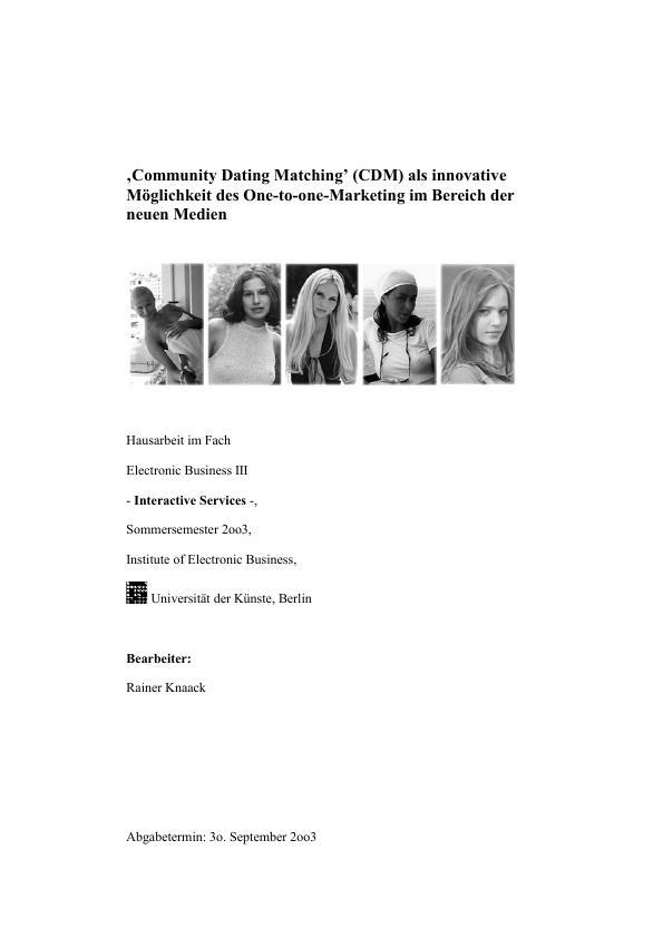 Dating-Matching-Seiten