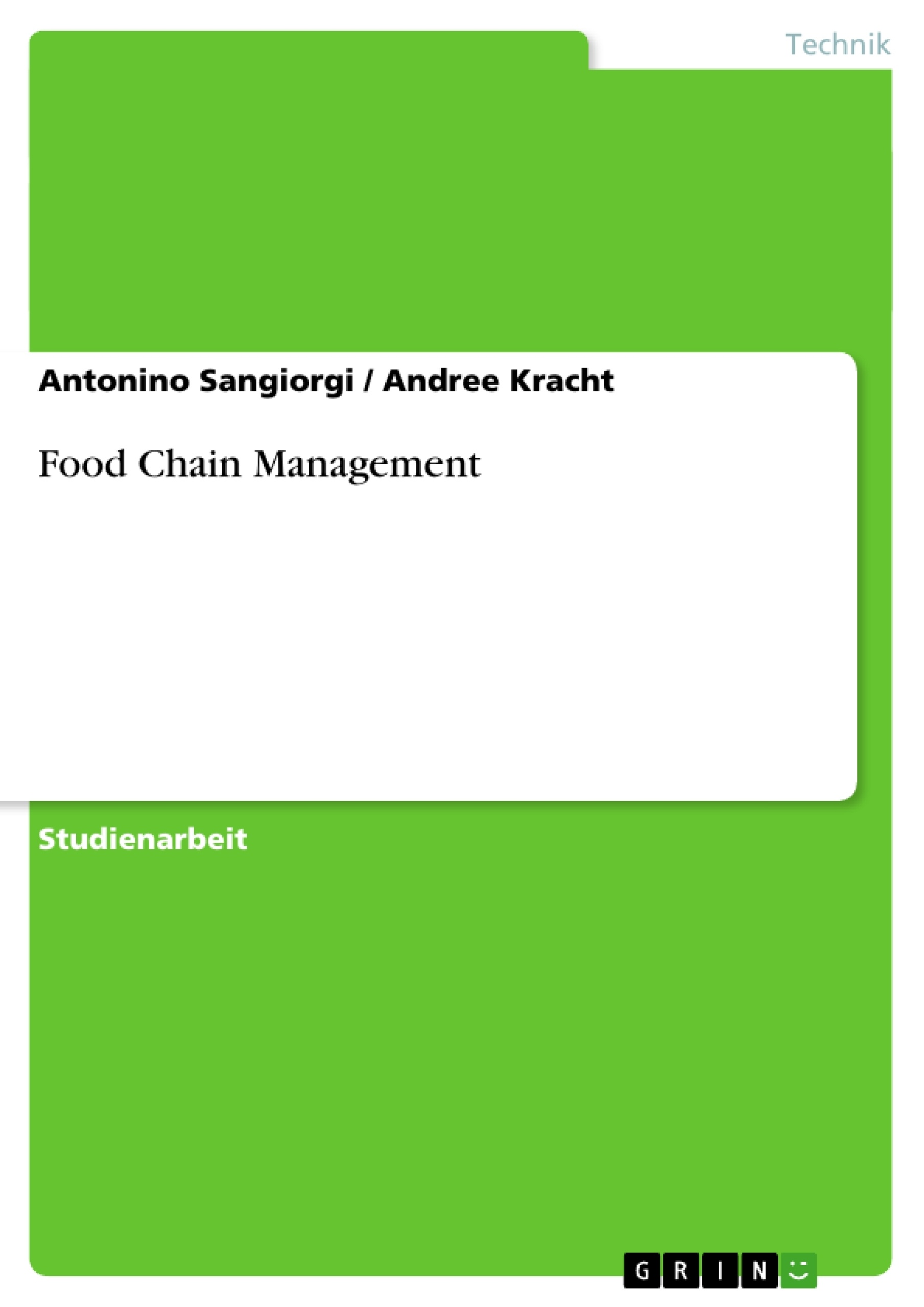 Titel: Food Chain Management