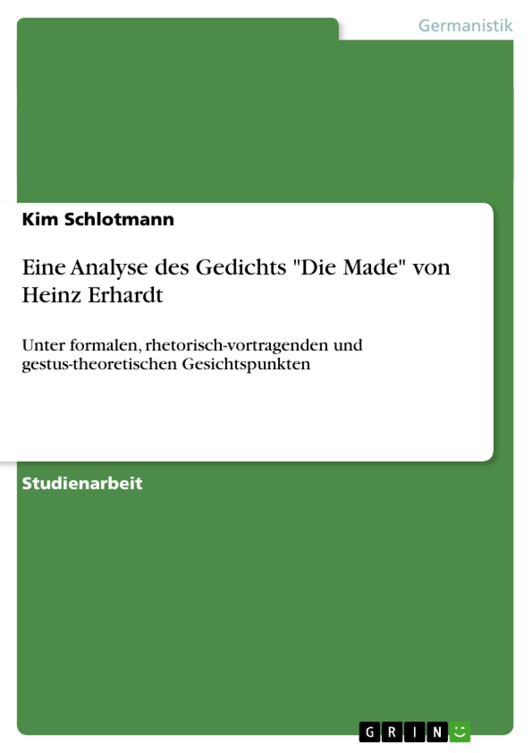 Heinz erhardt gedicht schule interpretation