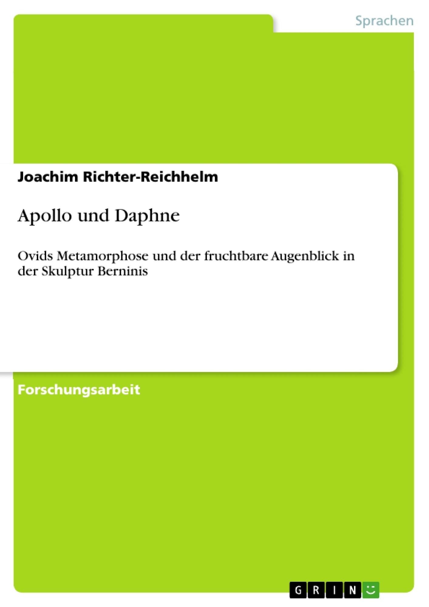 Titel: Apollo und Daphne