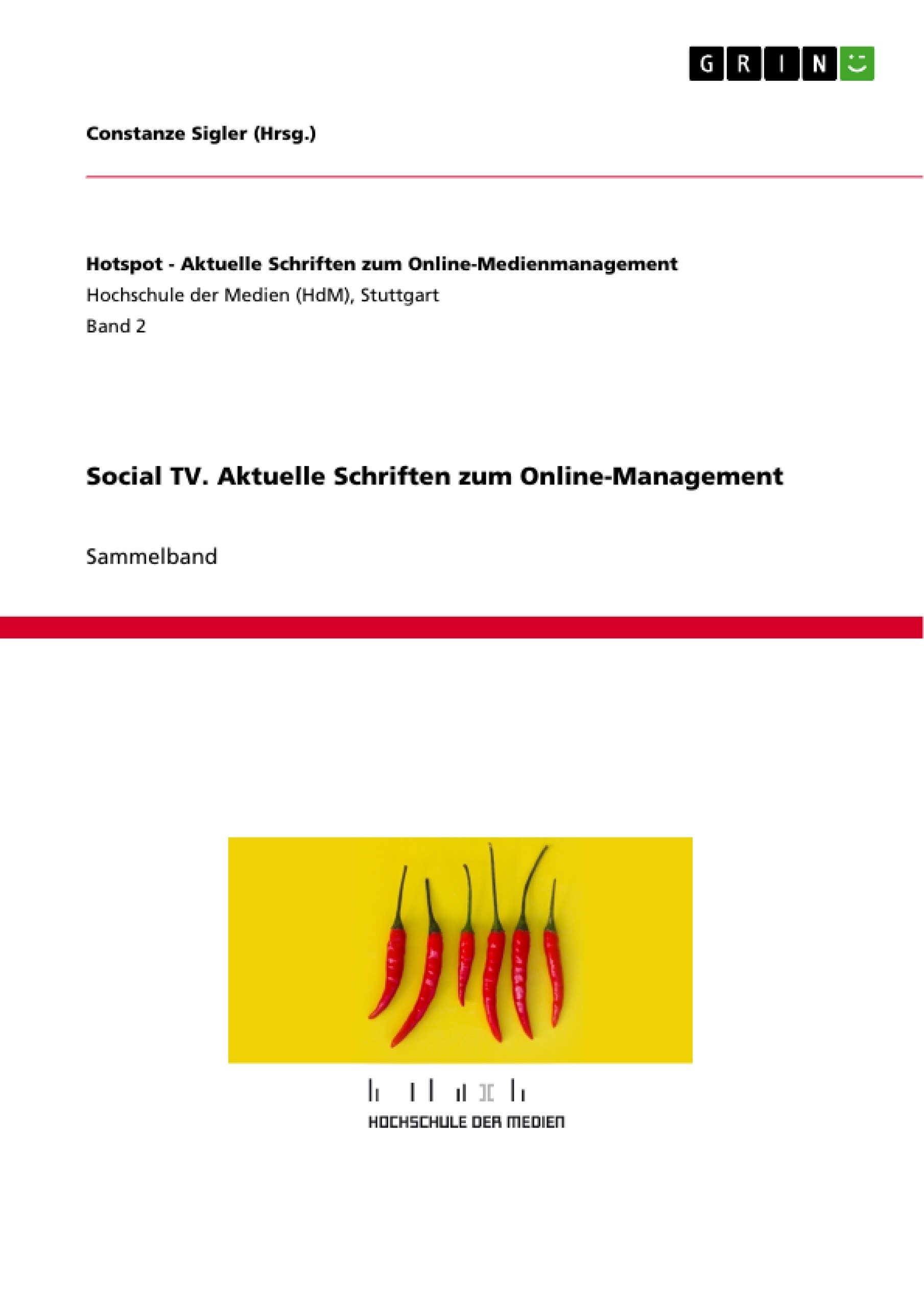 Titel: Social TV. Aktuelle Schriften zum Online-Management