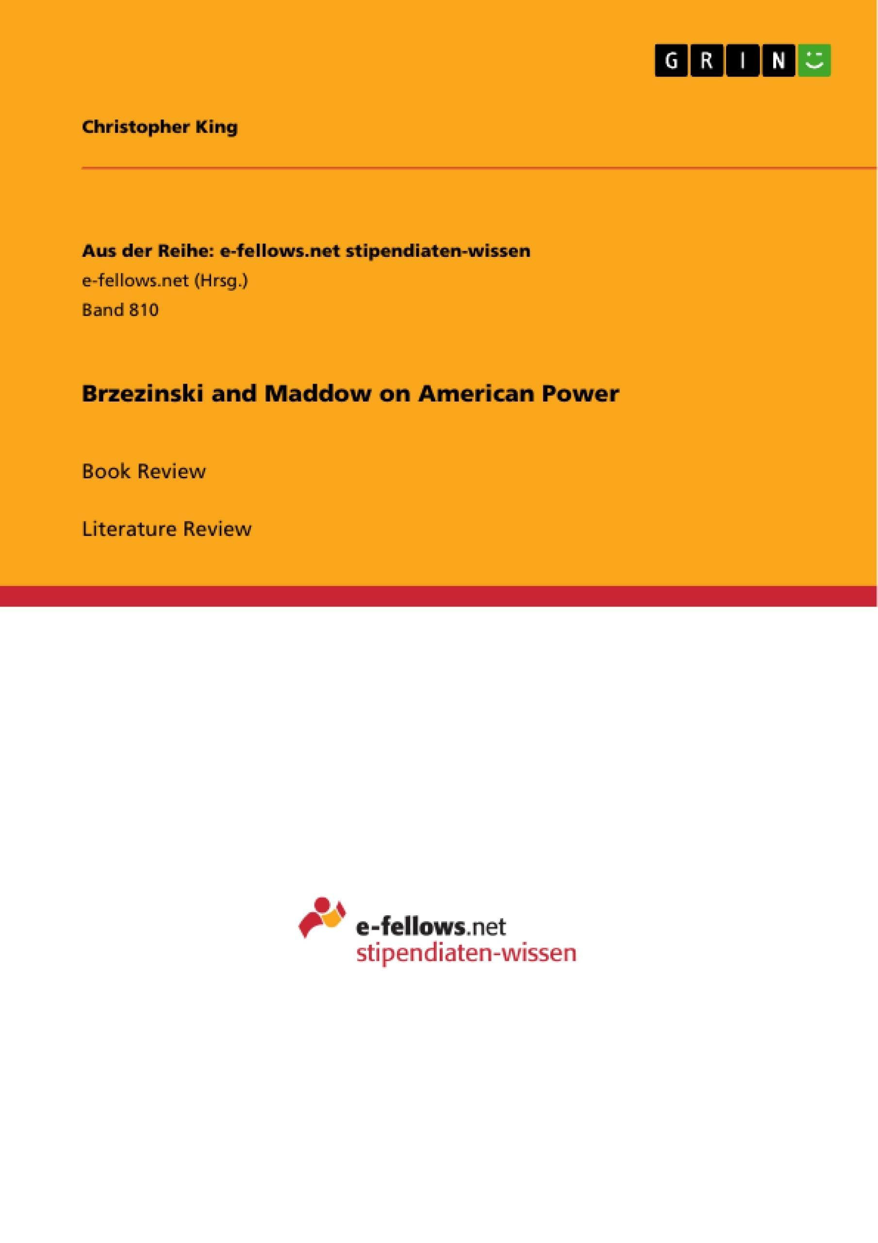 Title: Brzezinski and Maddow on American Power