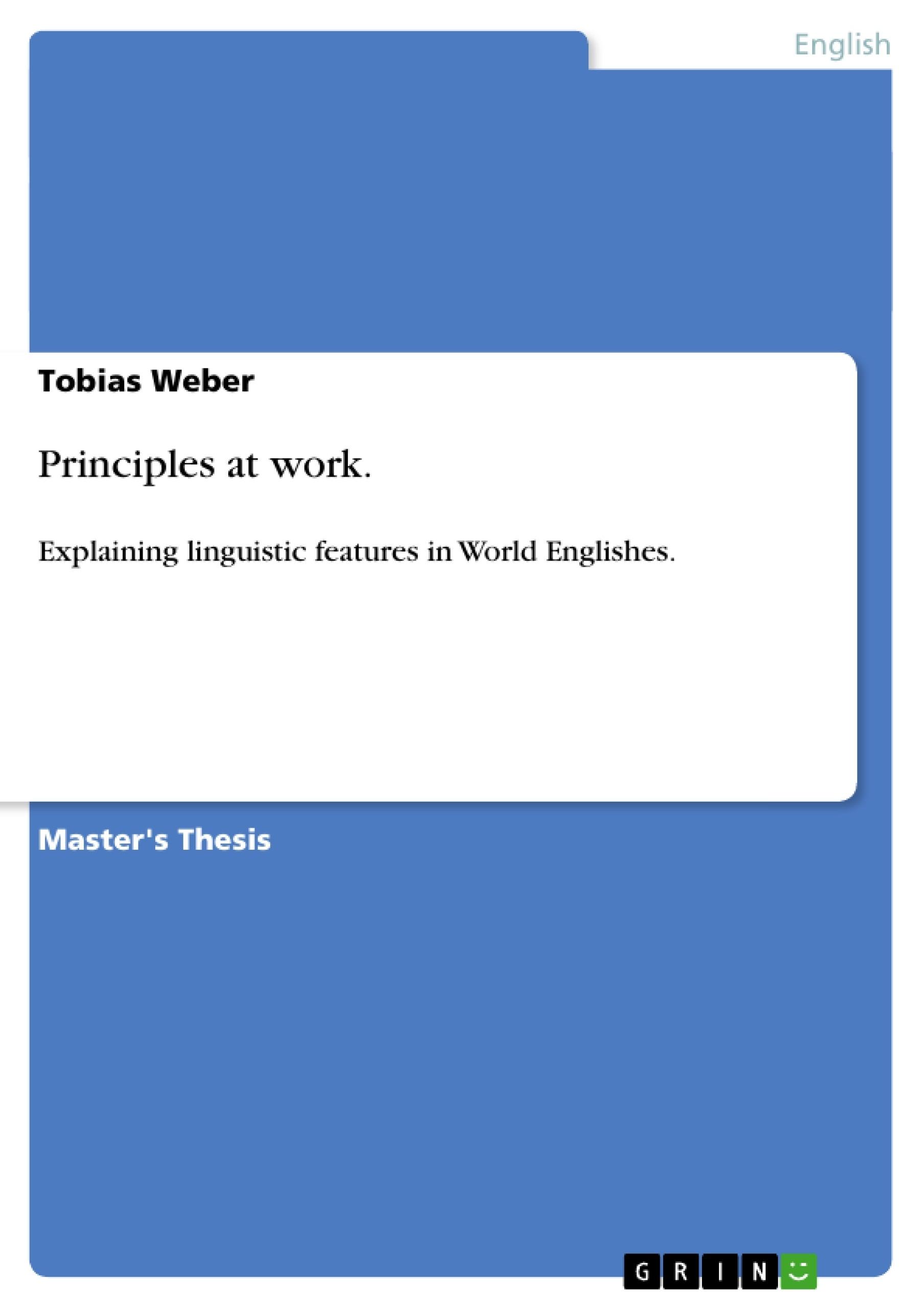 Title: Principles at work.