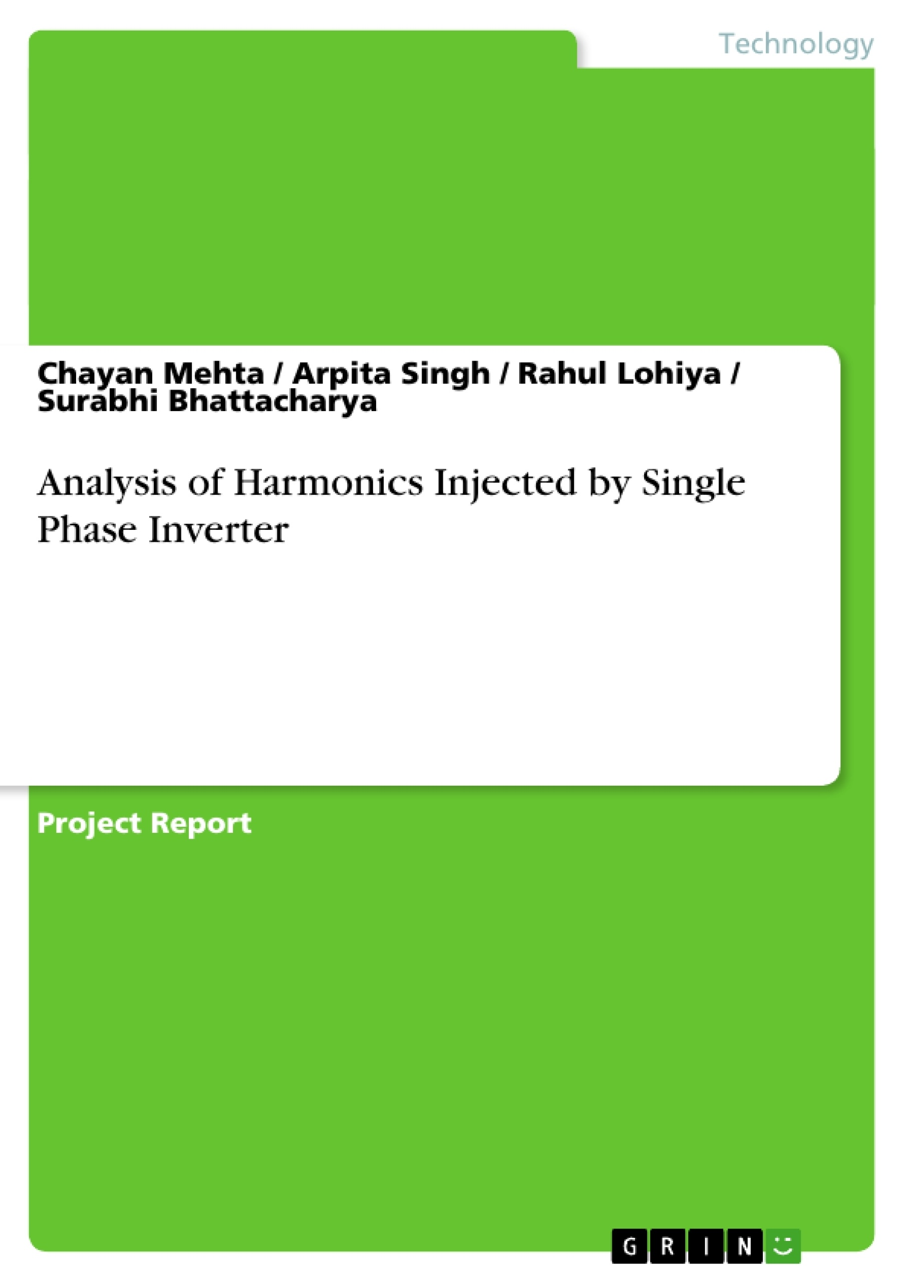 Title: Analysis of Harmonics Injected by Single Phase Inverter