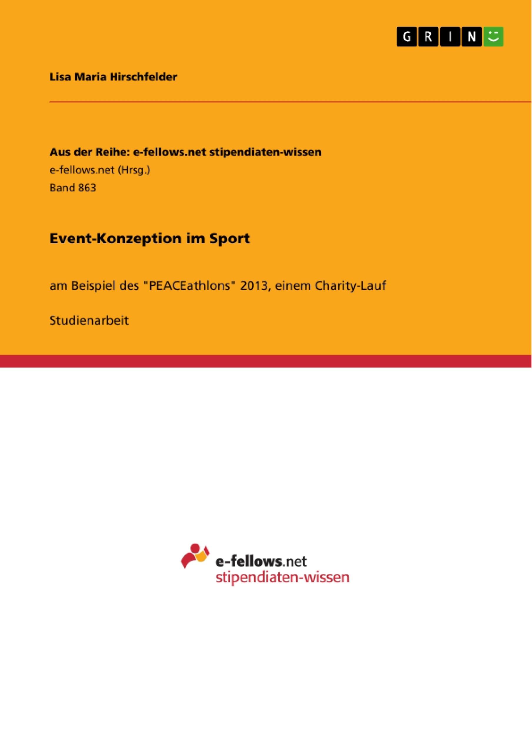 Titel: Event-Konzeption im Sport