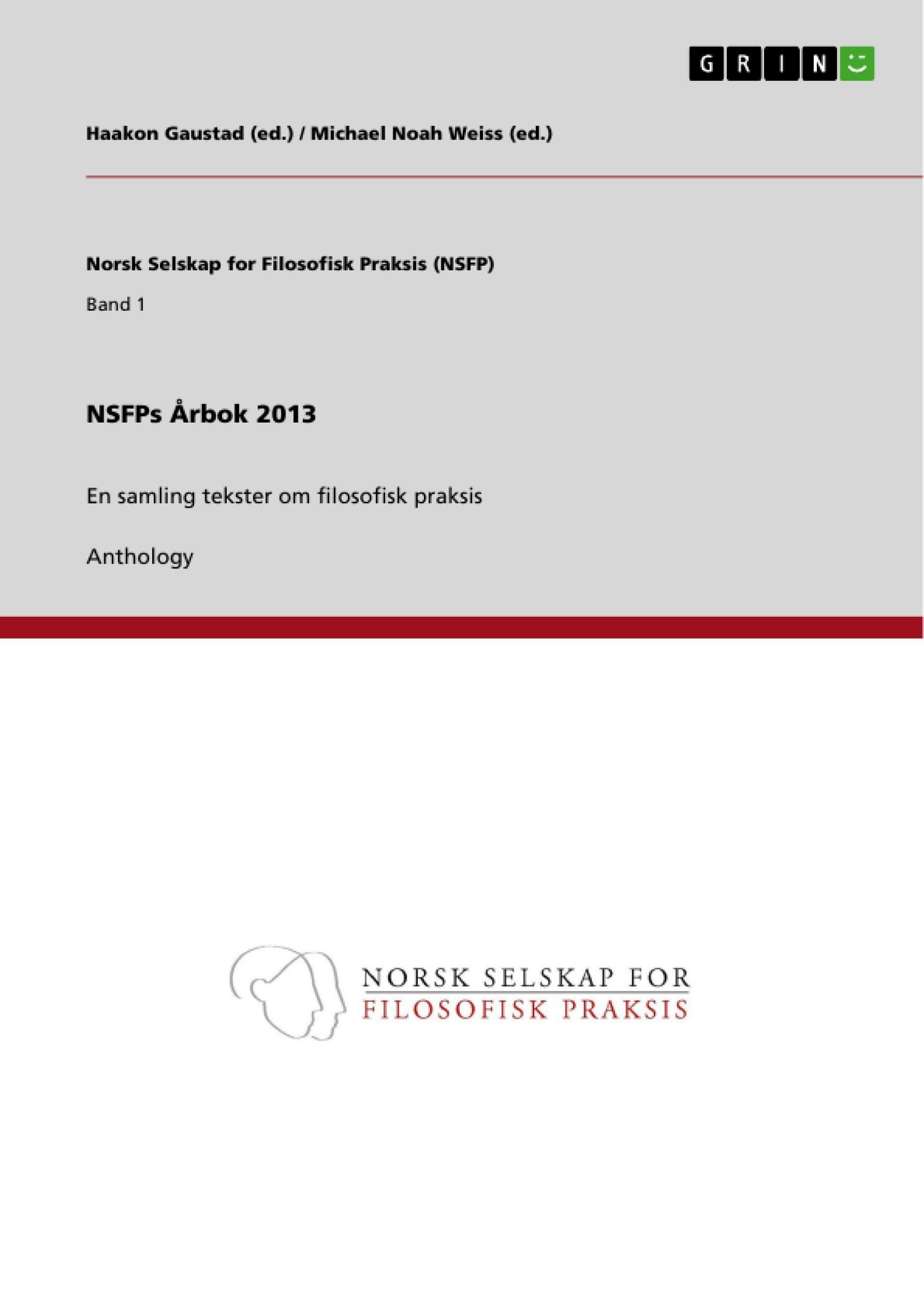 Titre: NSFPs Årbok 2013