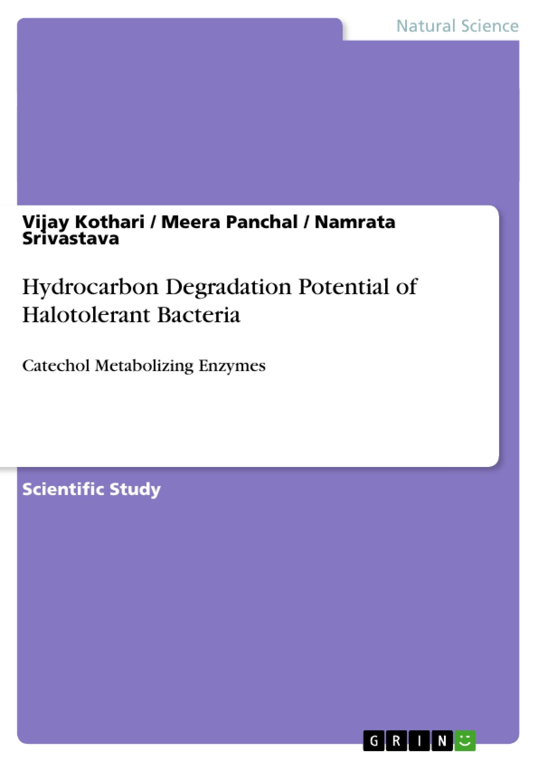 Title: Hydrocarbon Degradation Potential of Halotolerant Bacteria