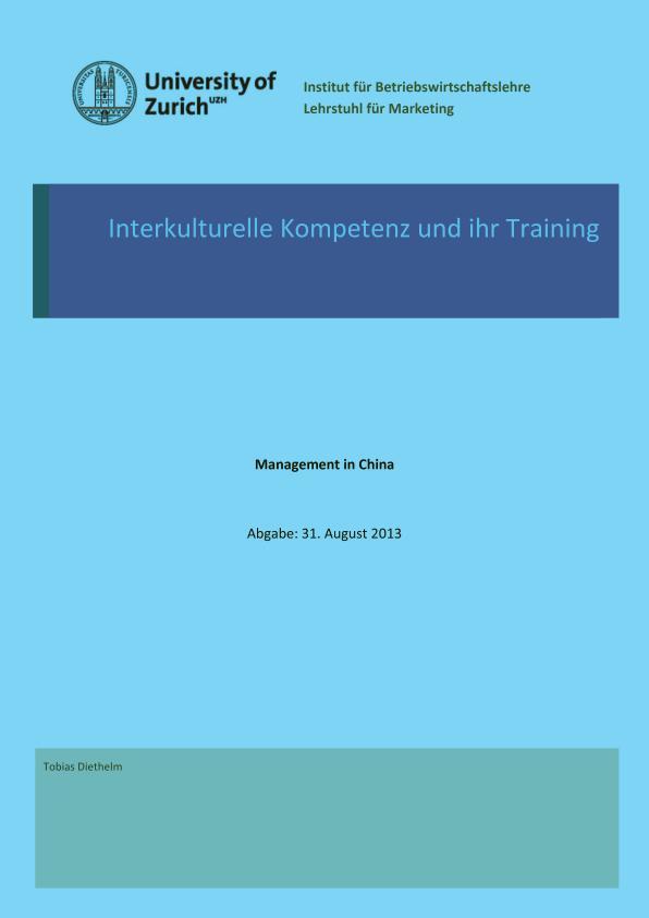 Titel: Interkulturelle Kompetenz und ihr Training