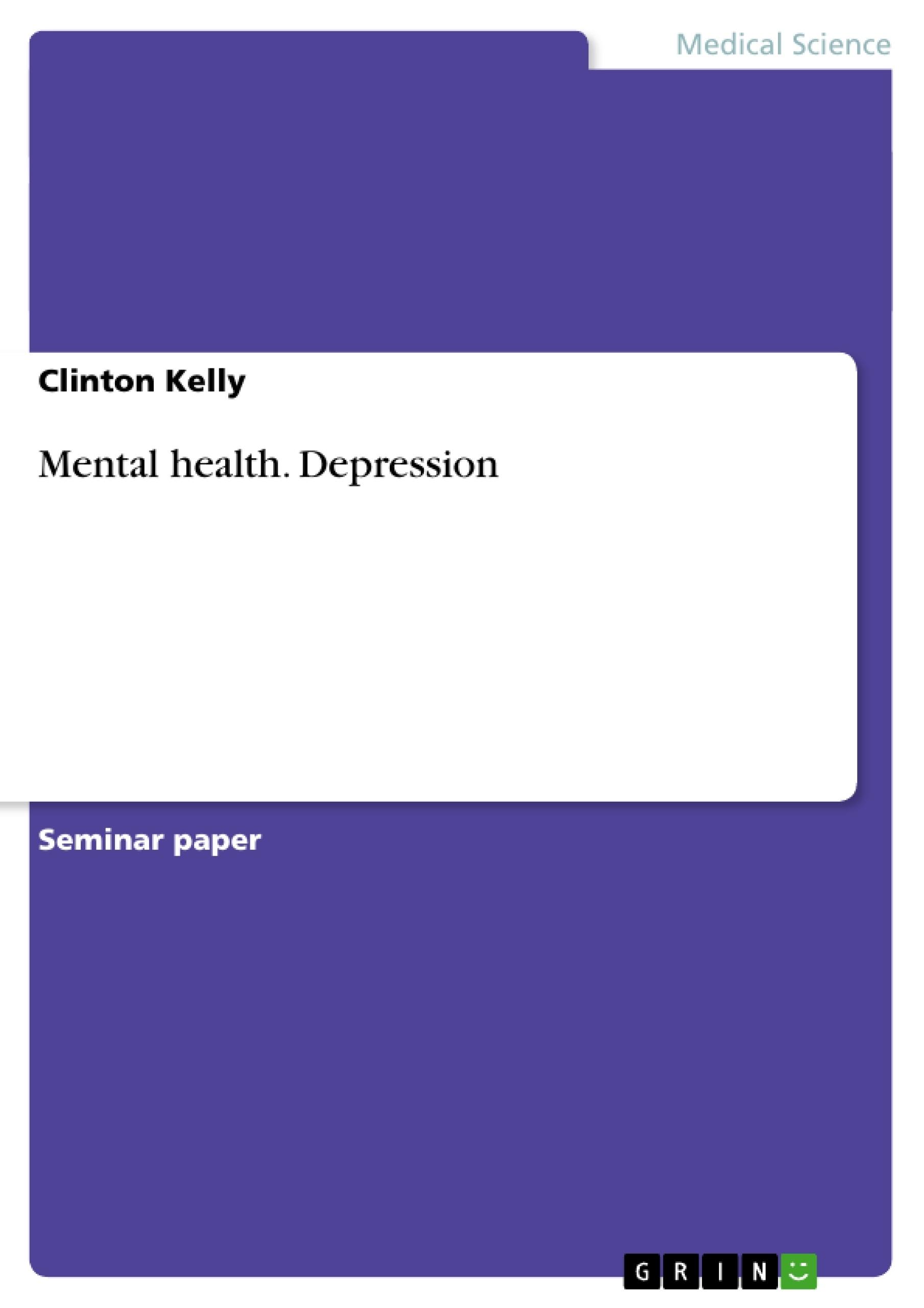 Title: Mental health. Depression