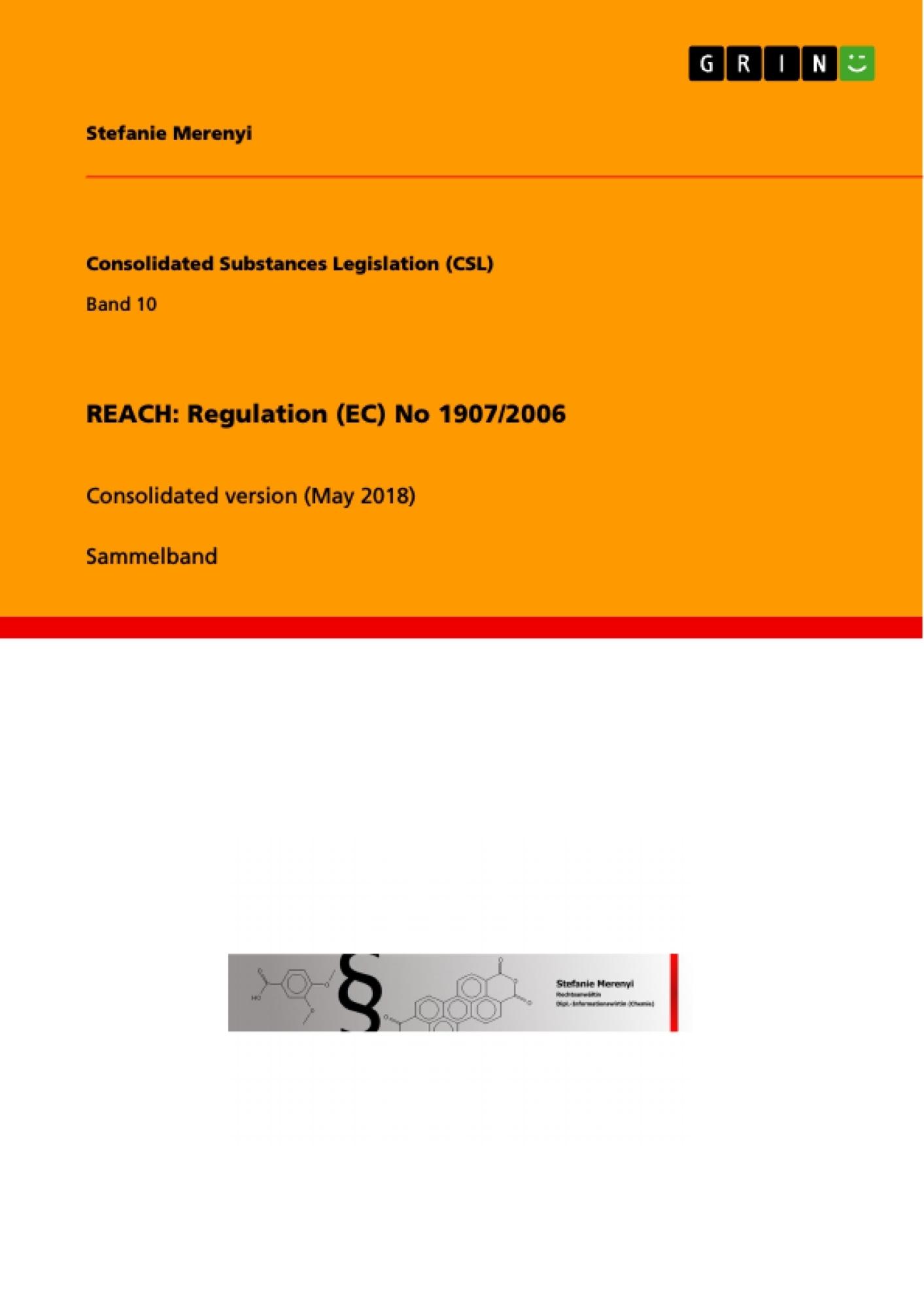 Titel: REACH: Regulation (EC) No 1907/2006