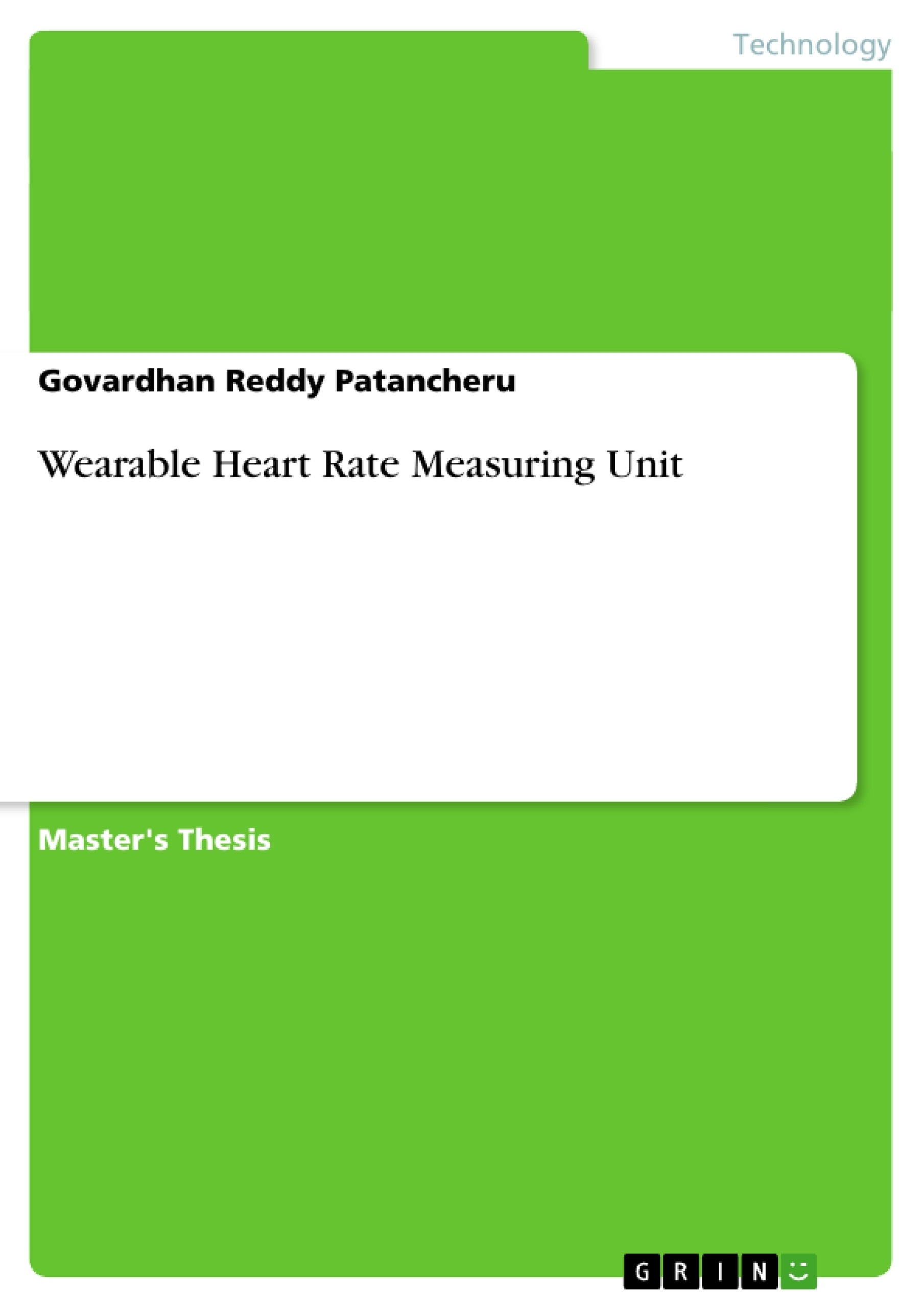 Title: Wearable Heart Rate Measuring Unit