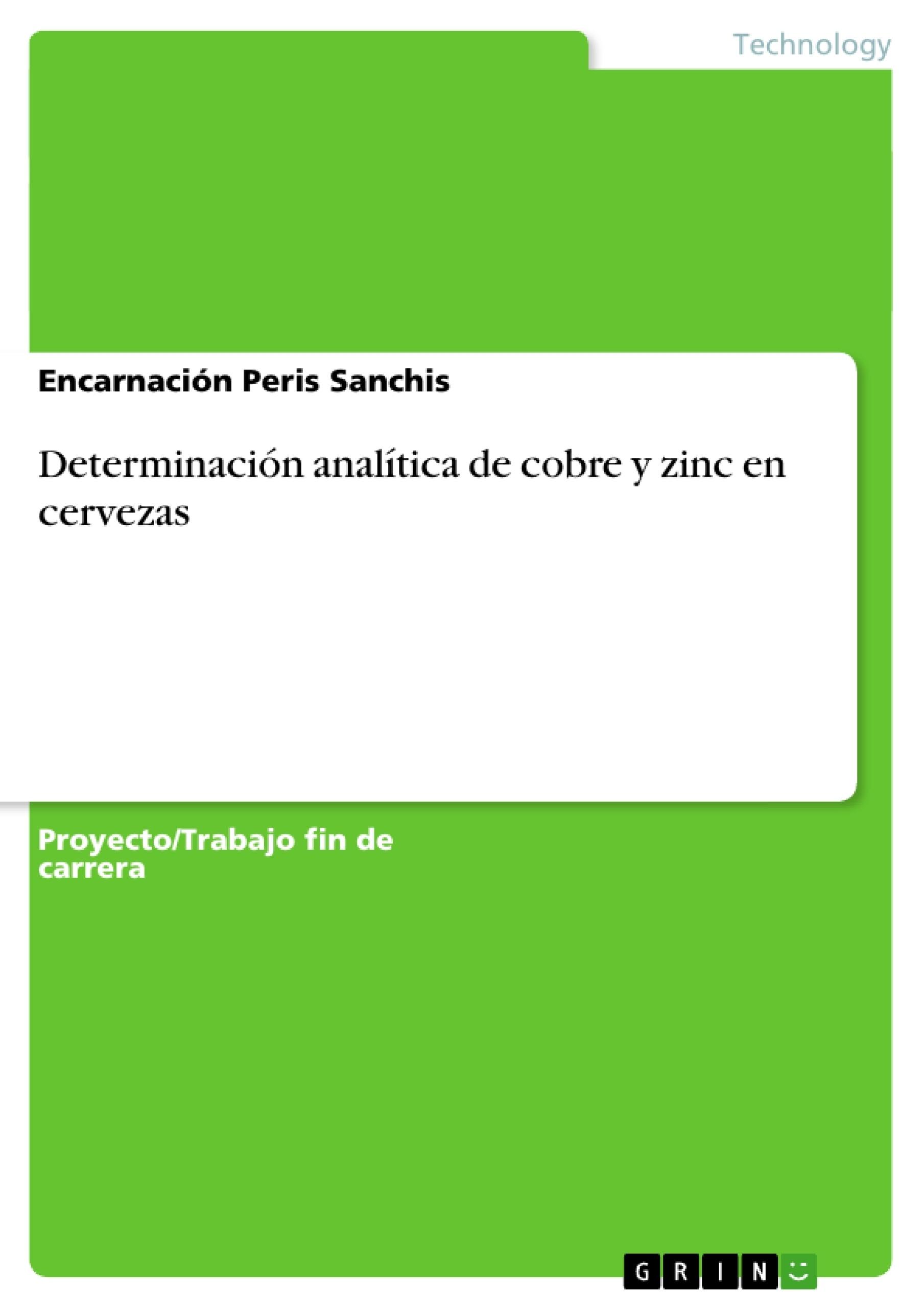 Determinación analítica de cobre y zinc en cervezas | Publique su ...