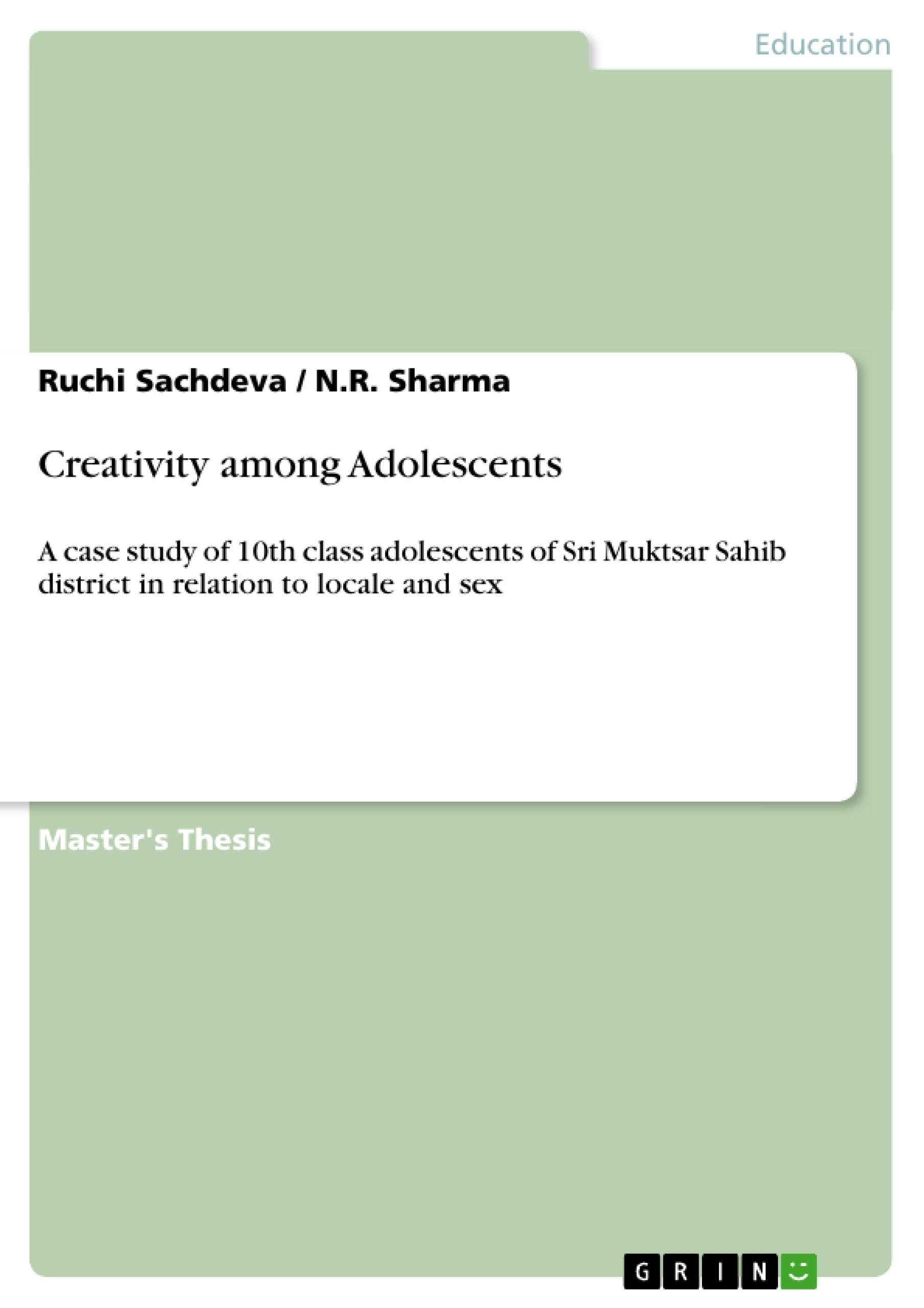 Title: Creativity among Adolescents