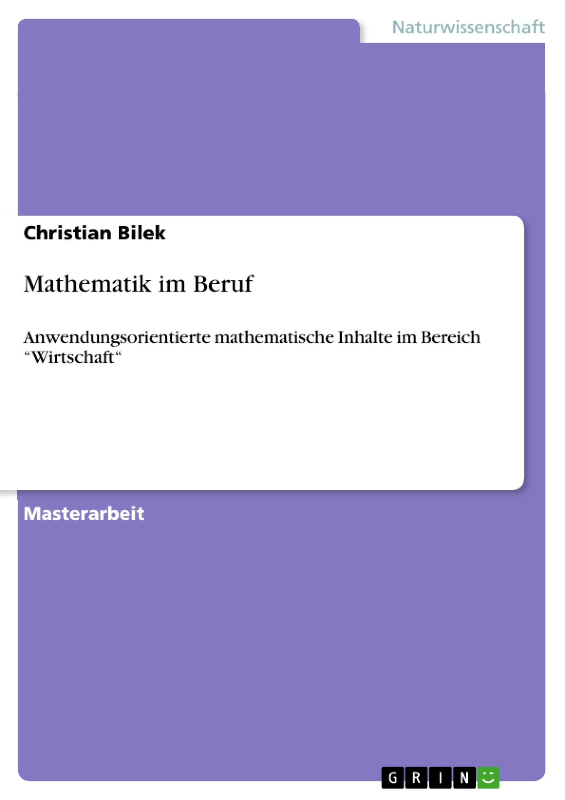 Titel: Mathematik im Beruf