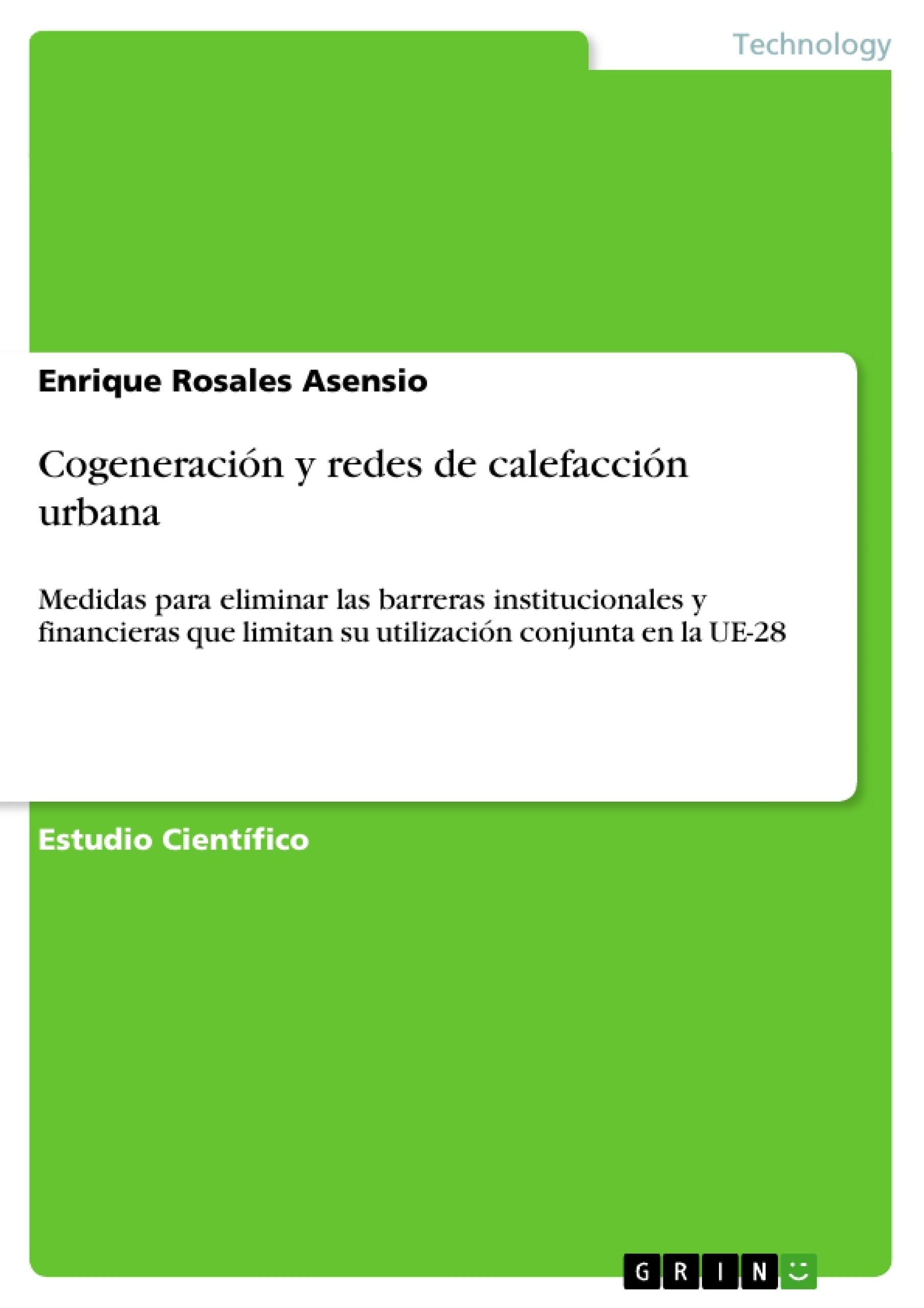 Título: Cogeneración y redes de calefacción urbana
