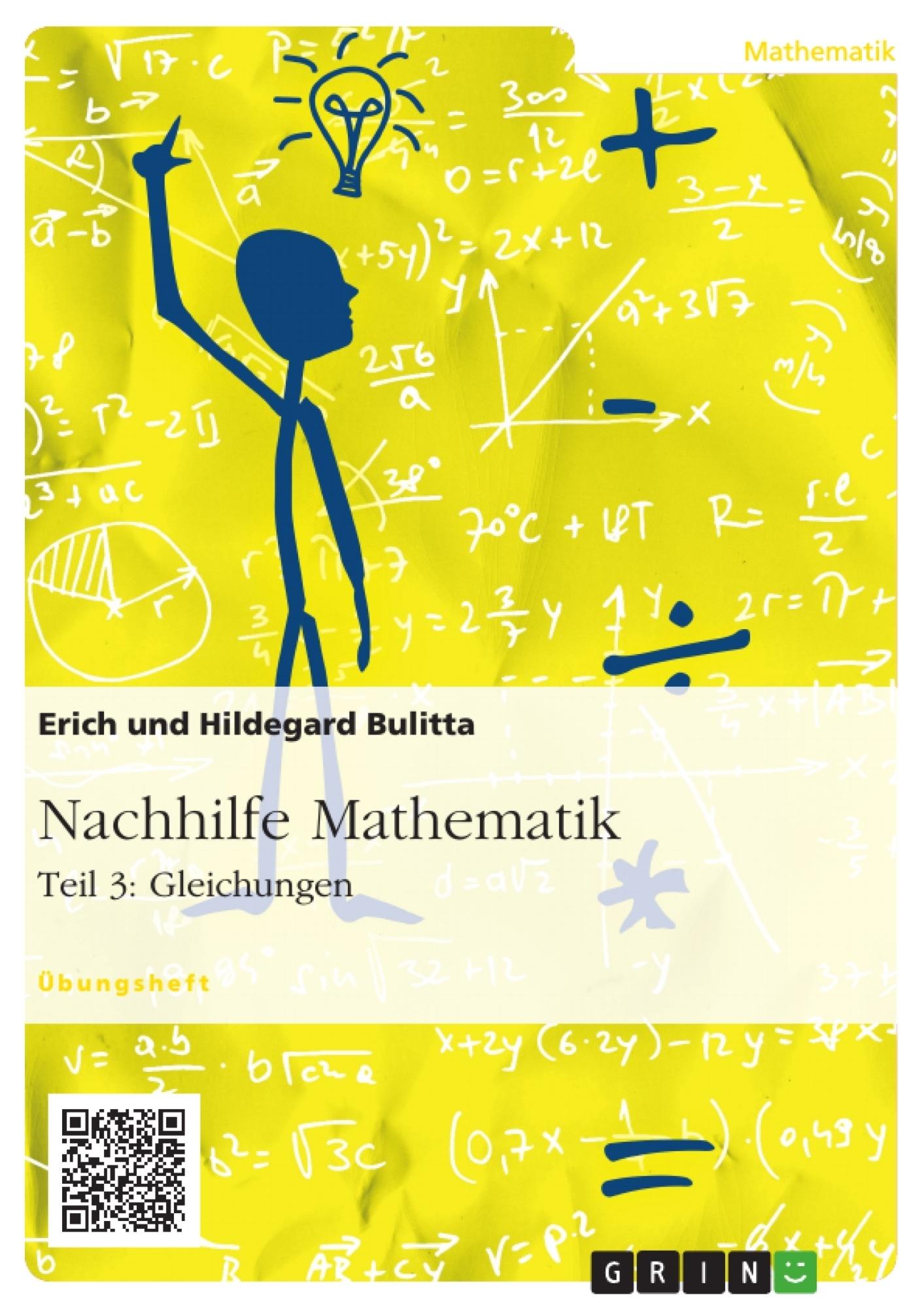 Nachhilfe Mathematik - Teil 3: Gleichungen | Masterarbeit ...