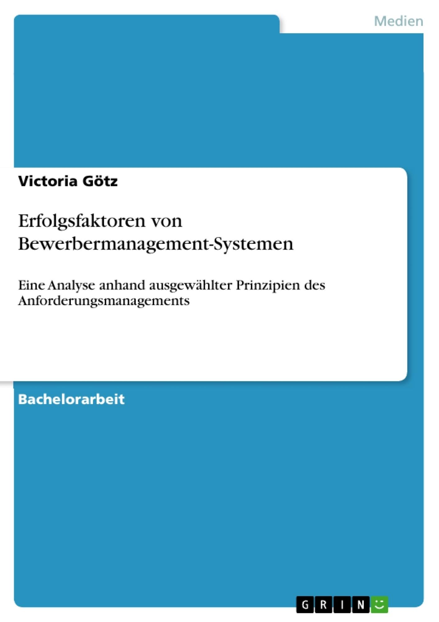 Titel: Erfolgsfaktoren von Bewerbermanagement-Systemen