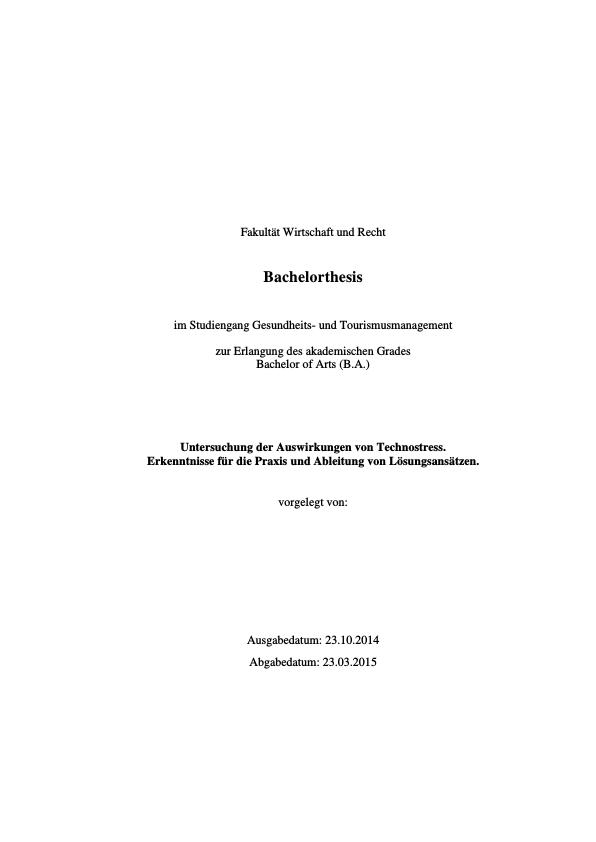 Titel: Technostress, Digitale Demenz und iDisorder. Auswirkungen der Informationstechnologie auf die Gesundheit