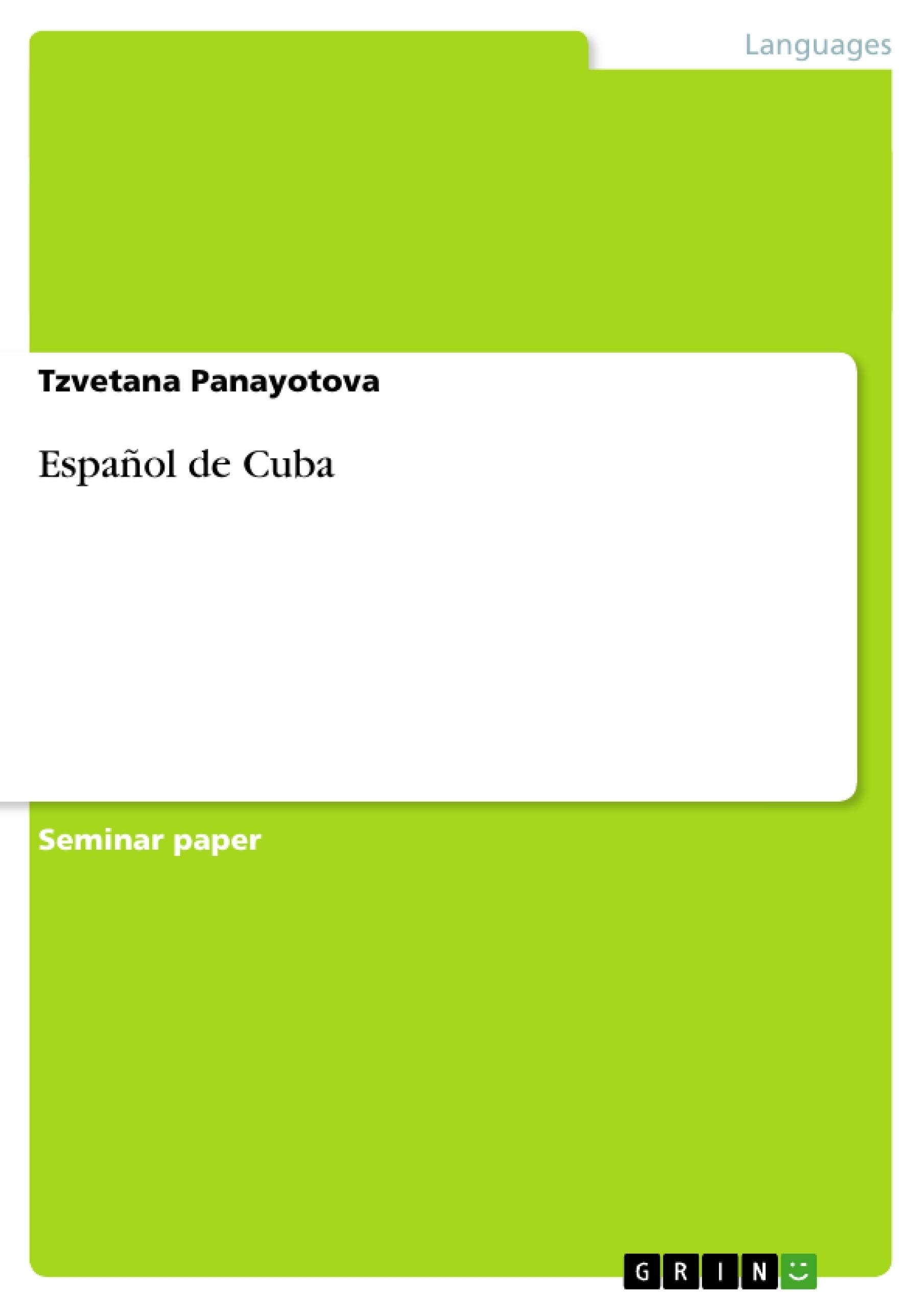 Título: Español de Cuba