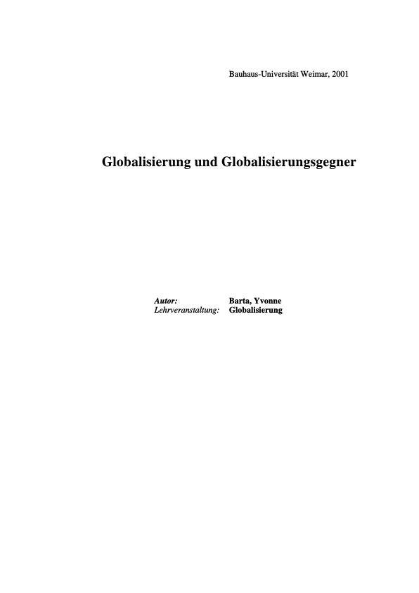 Titel: Globalisierung