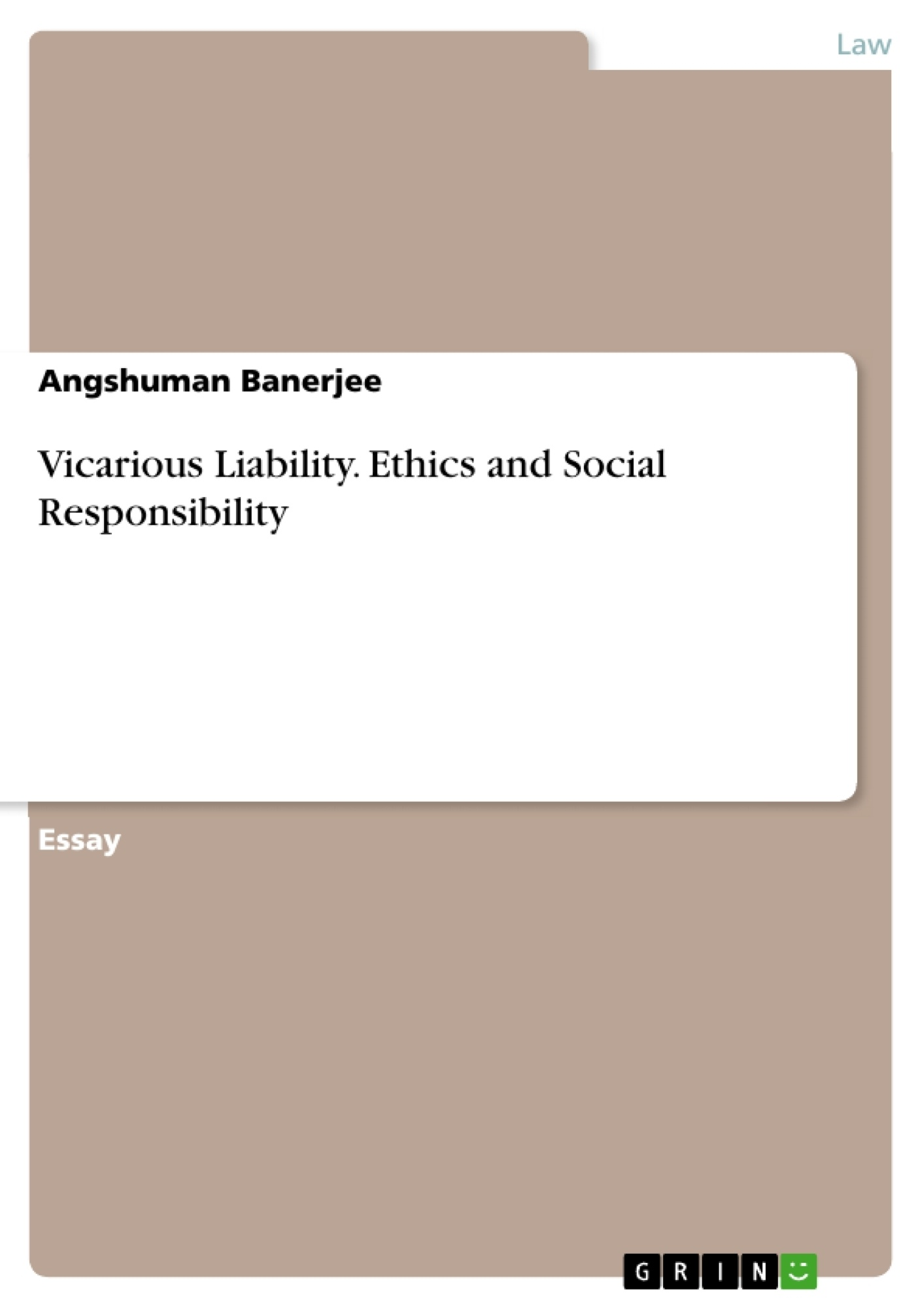 Vicarious Liability Ethics And Social Responsibility Publish Your