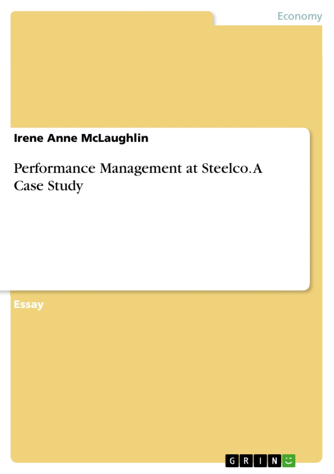 performance management at steelco a case study  publish your  excerpt from  pages