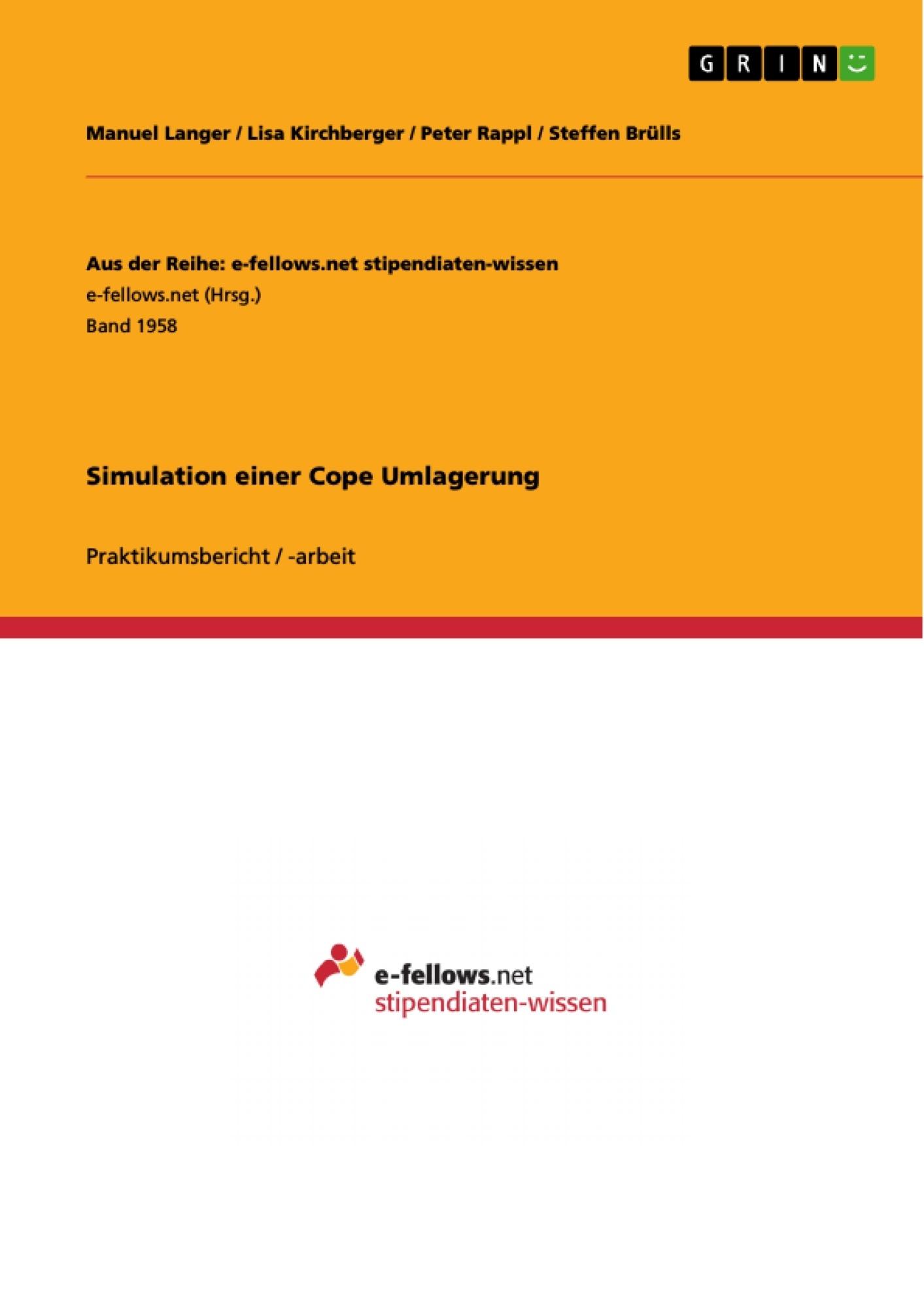 Titel: Simulation einer Cope Umlagerung