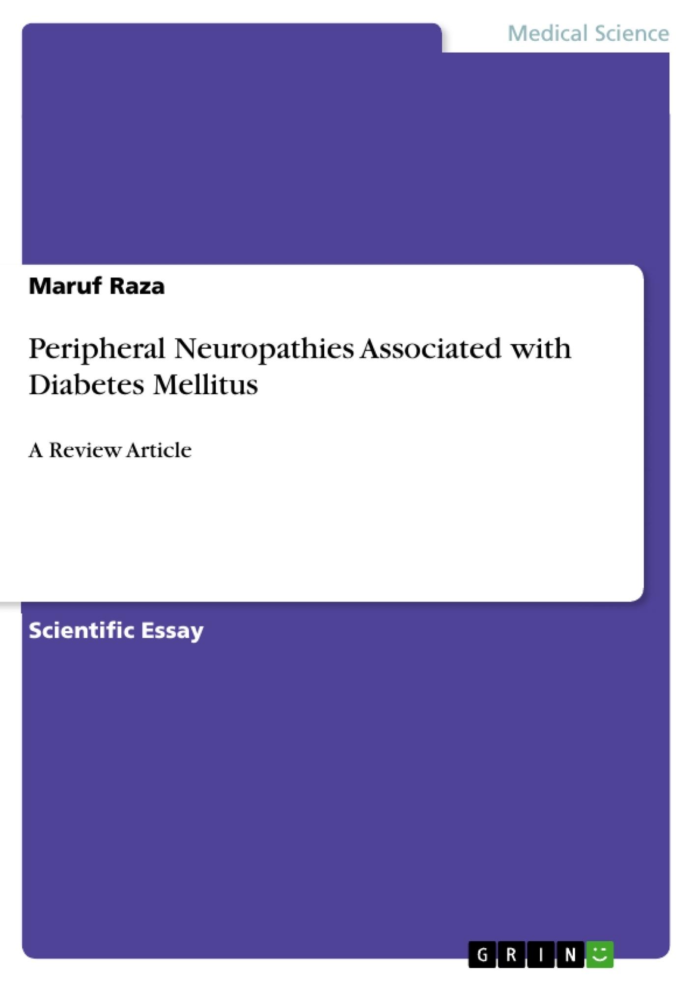 Title: Peripheral Neuropathies Associated with Diabetes Mellitus