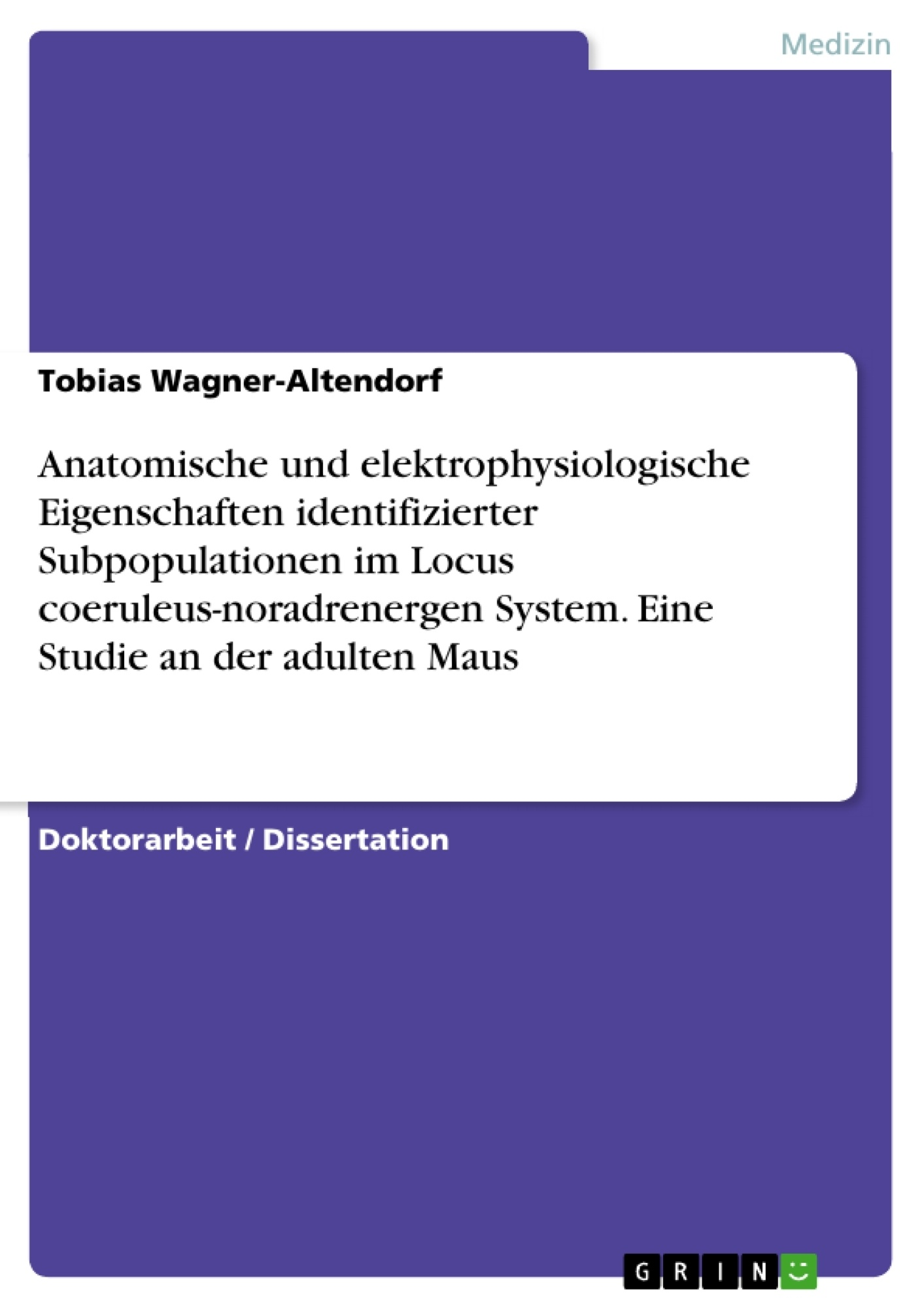 Anatomische und elektrophysiologische Eigenschaften ...
