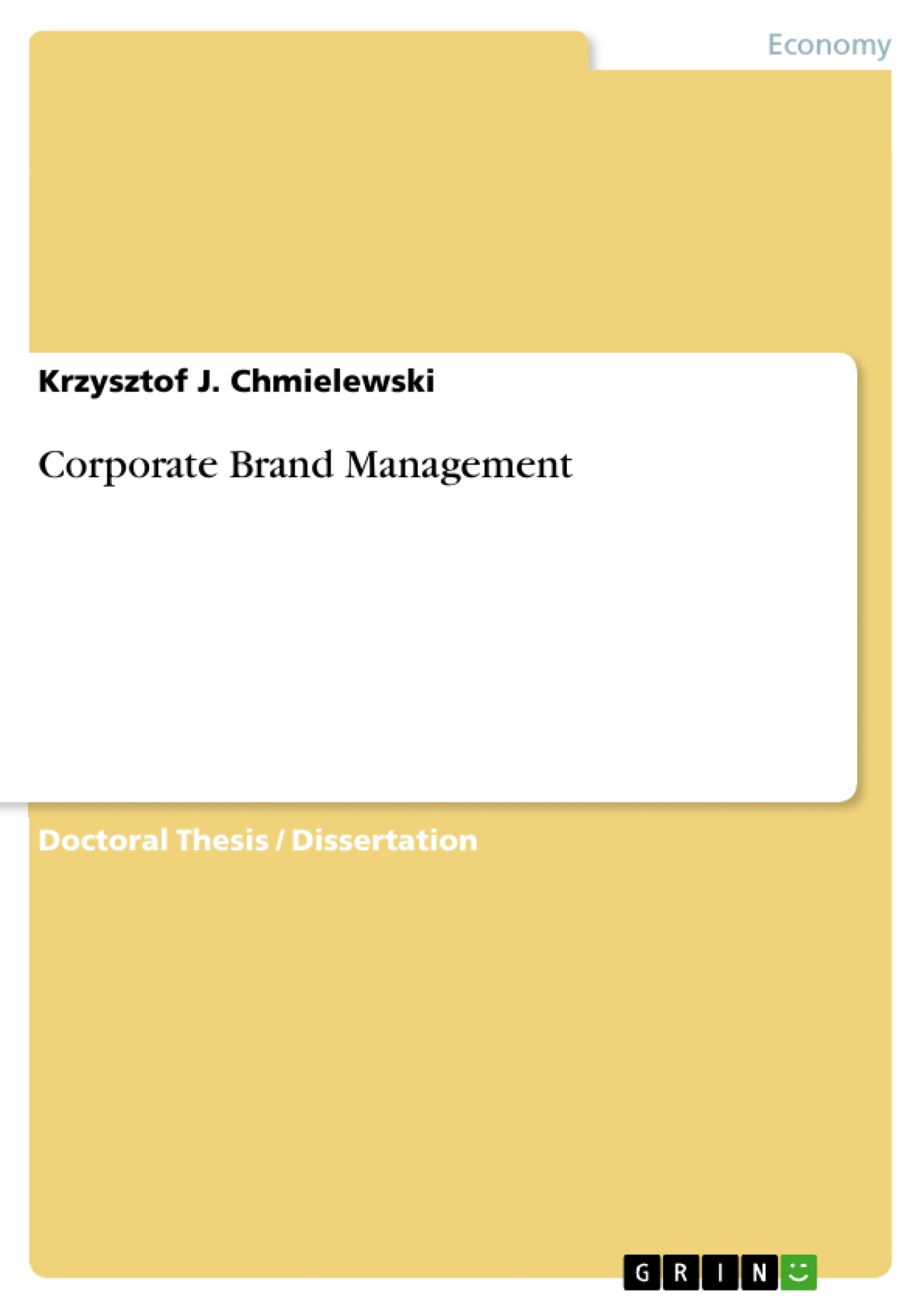 Title: Corporate Brand Management