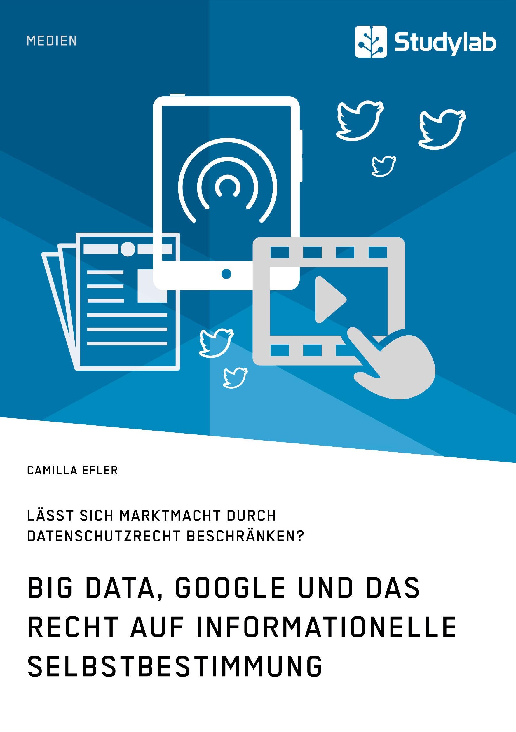 Titel: Big Data, Google und das Recht auf informationelle Selbstbestimmung