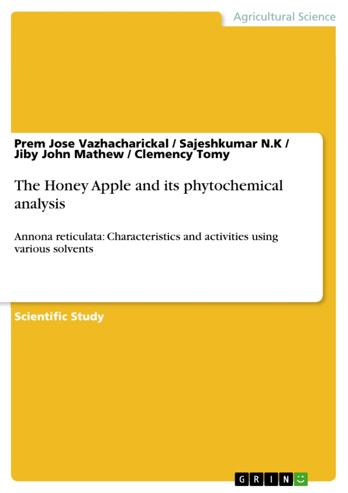 Title: The Honey Apple and its phytochemical analysis