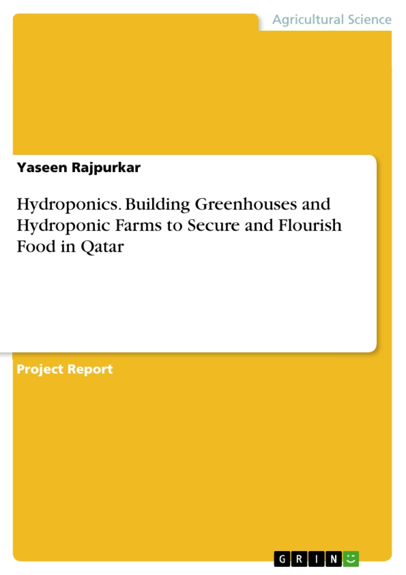 GRIN - Hydroponics  Building Greenhouses and Hydroponic Farms to Secure and  Flourish Food in Qatar