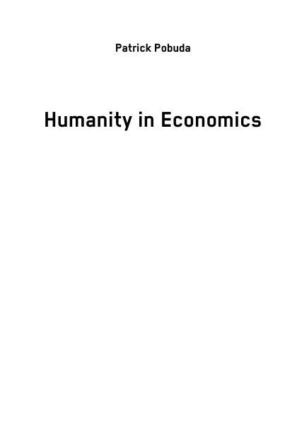 Title: Humanity in Economics