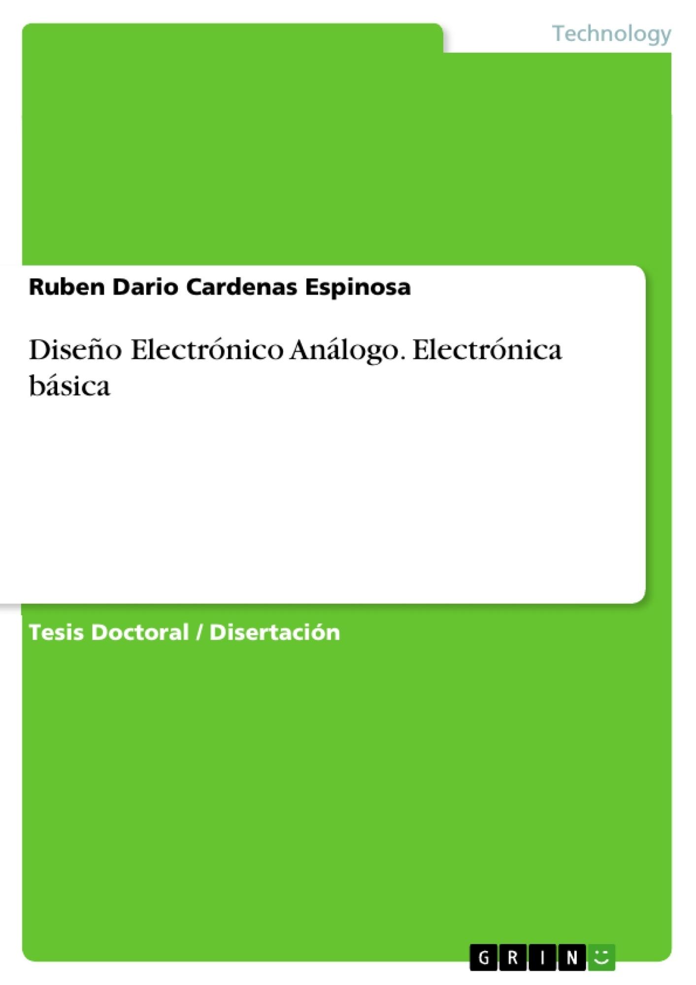 Diseño Electrónico Análogo. Electrónica básica   Publique su tesina ...