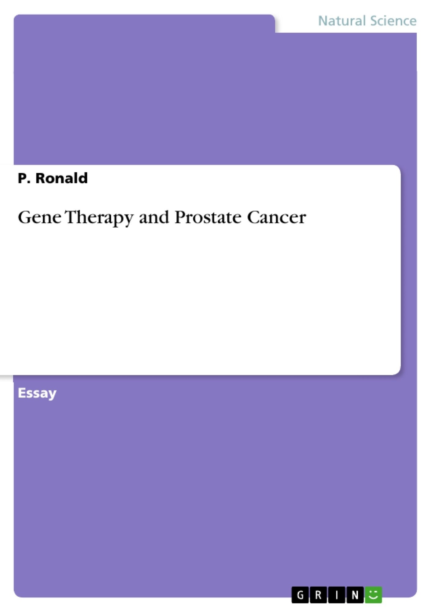 Title: Gene Therapy and Prostate Cancer