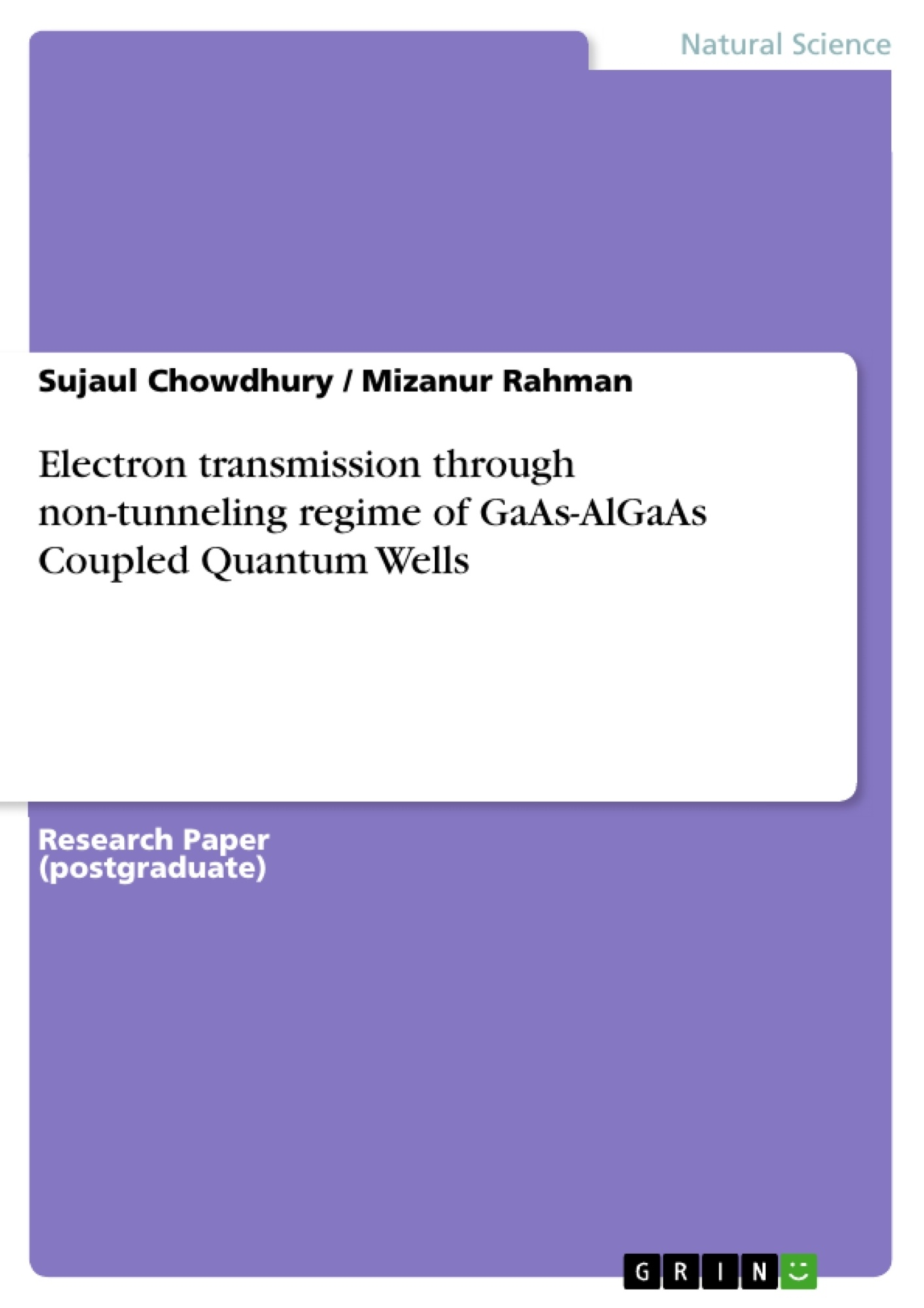 Title: Electron transmission through non-tunneling regime of GaAs-AlGaAs Coupled Quantum Wells