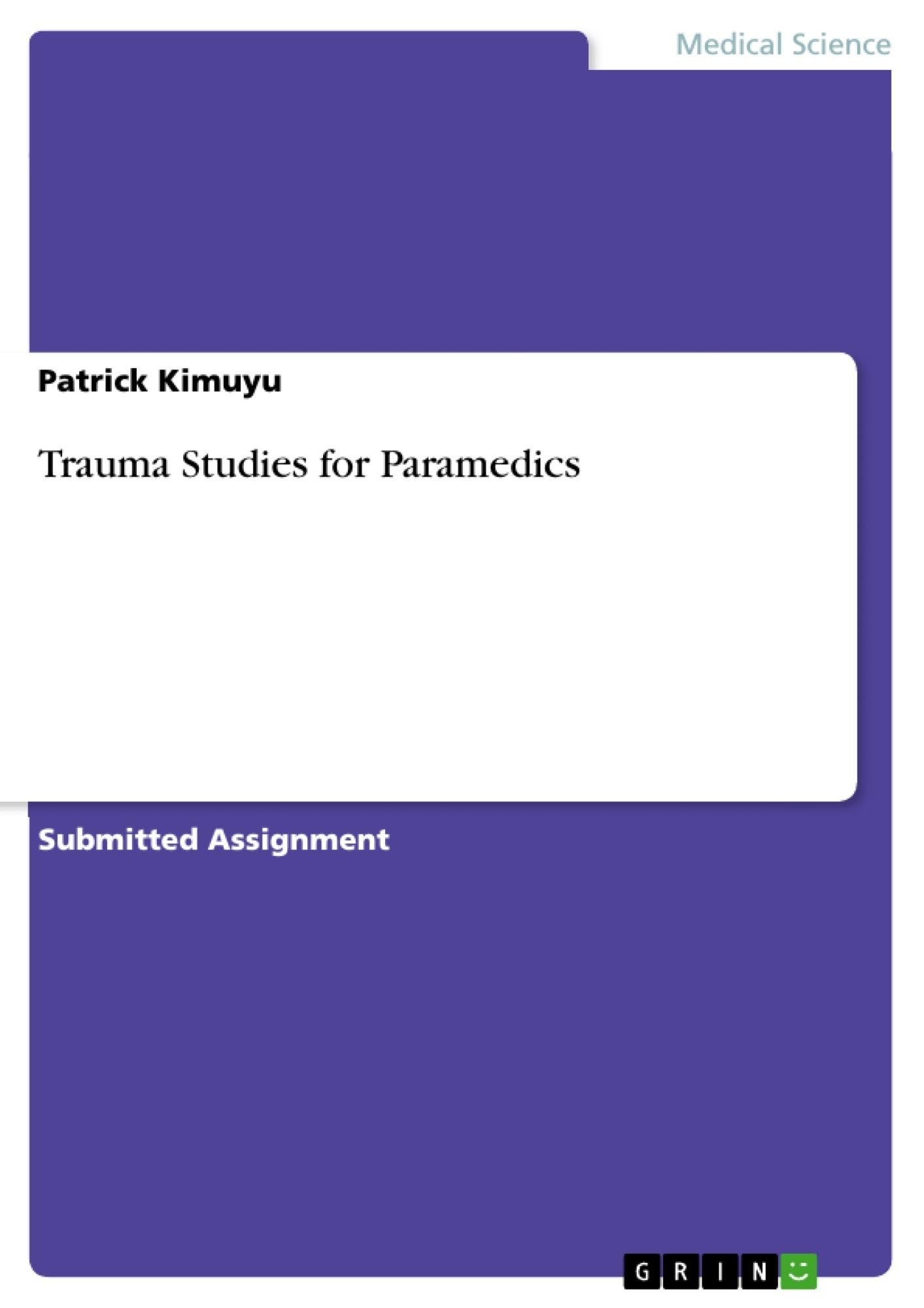 Title: Trauma Studies for Paramedics