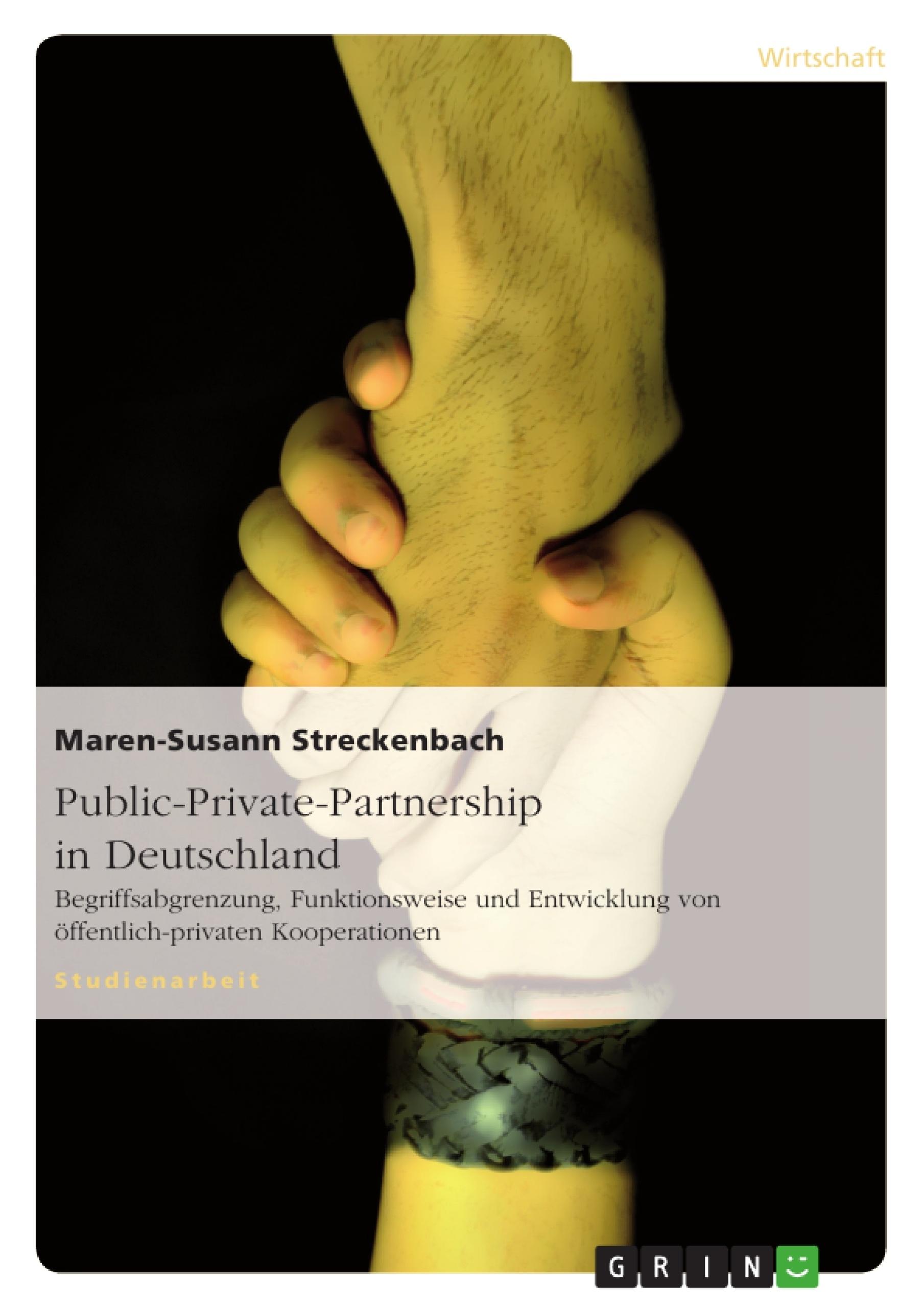 Titel: Public-Private-Partnership in Deutschland