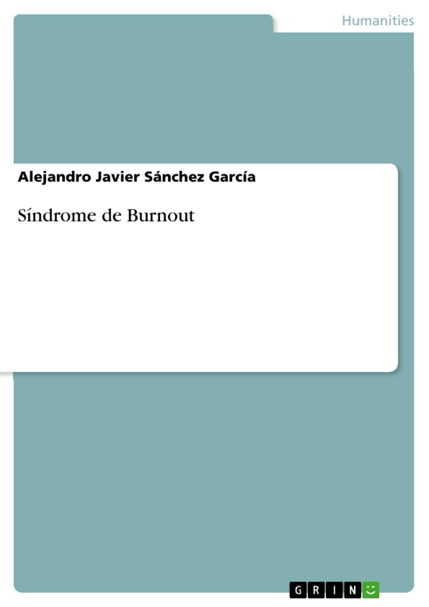 Título: Síndrome de Burnout