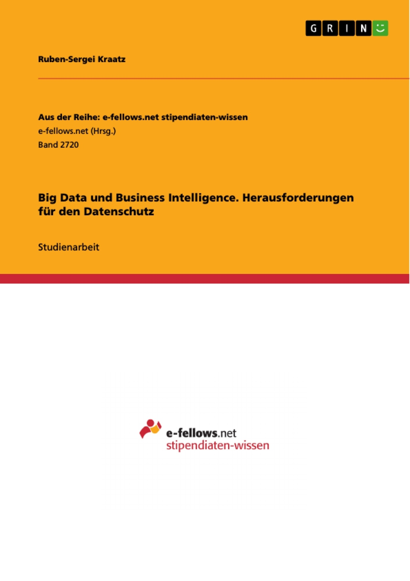 Titel: Big Data und Business Intelligence. Herausforderungen für den Datenschutz