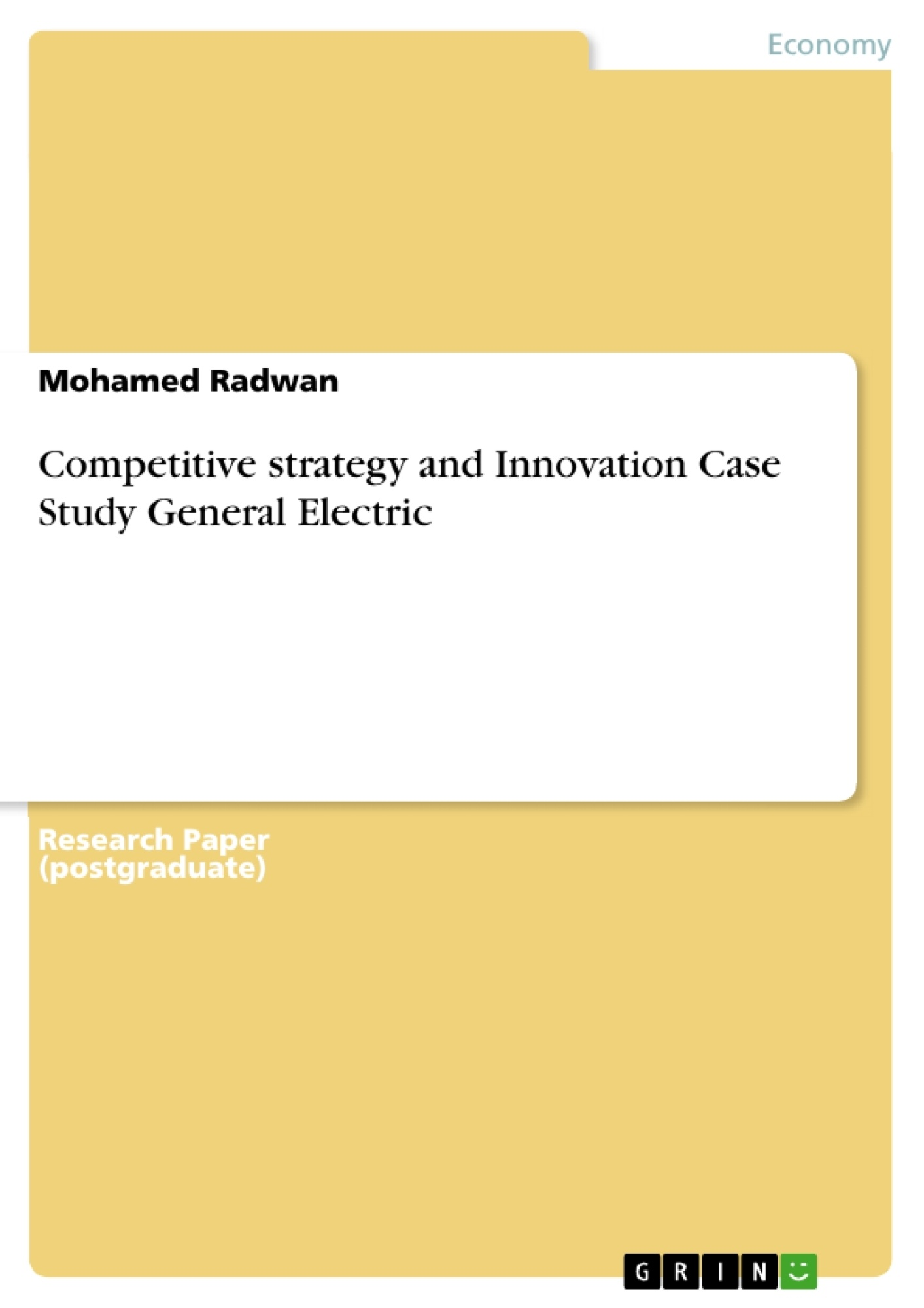 Ge healthcare master thesis