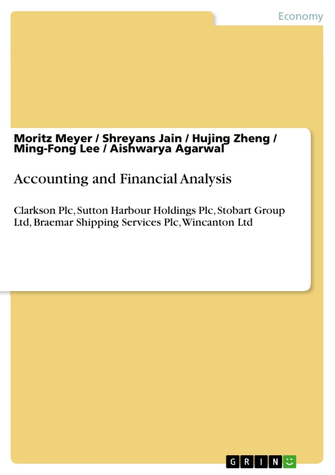 Title: Accounting and Financial Analysis