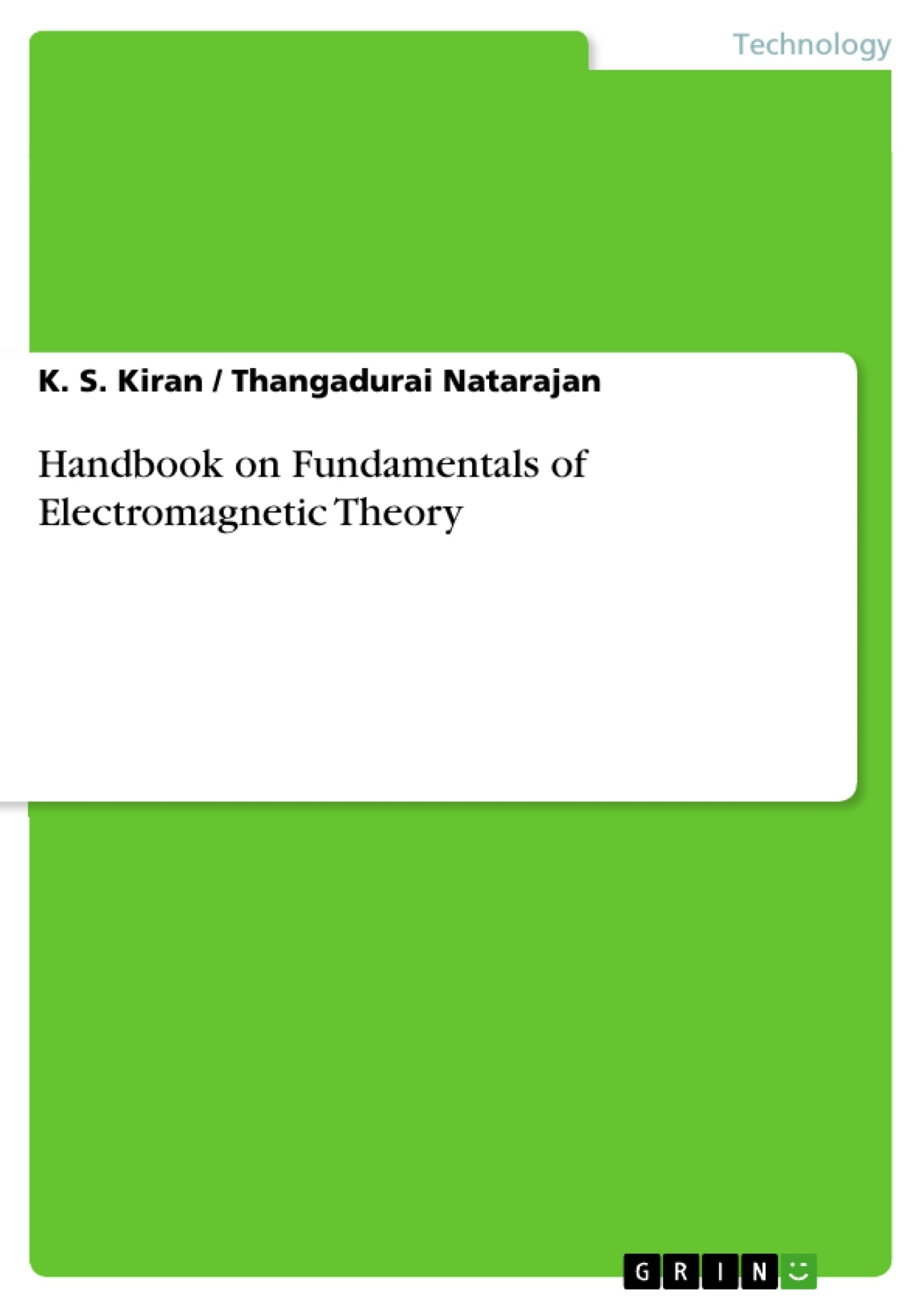Title: Handbook on Fundamentals of Electromagnetic Theory