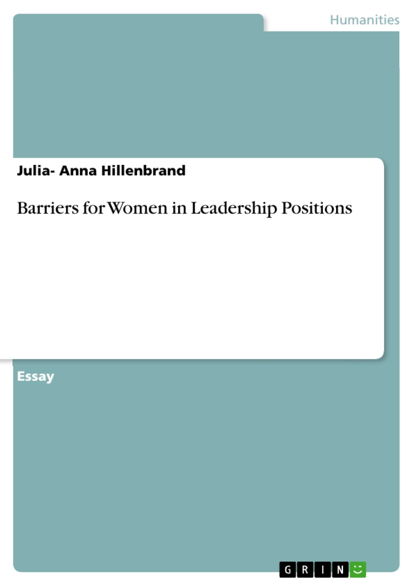 Title: Barriers for Women in Leadership Positions