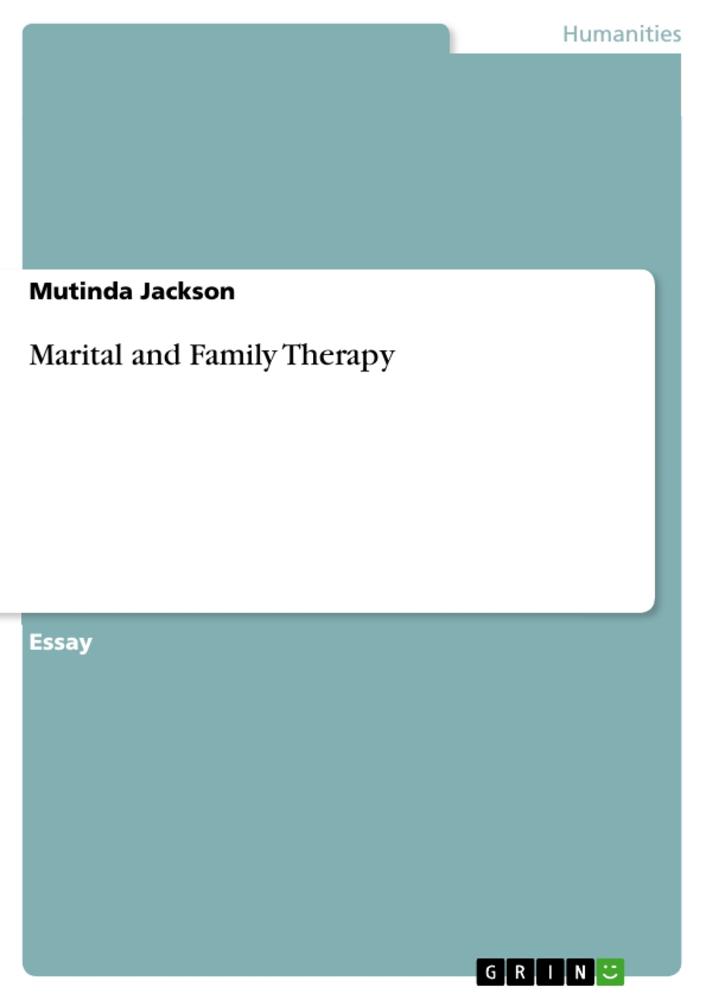 Title: Marital and Family Therapy