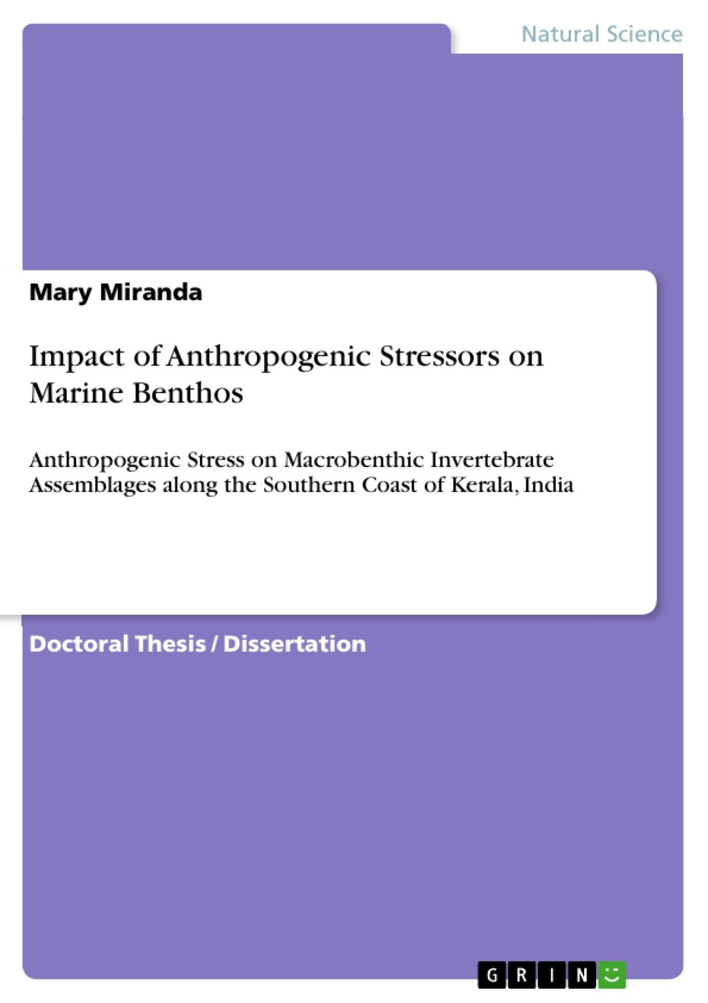 Title: Impact of Anthropogenic Stressors on Marine Benthos