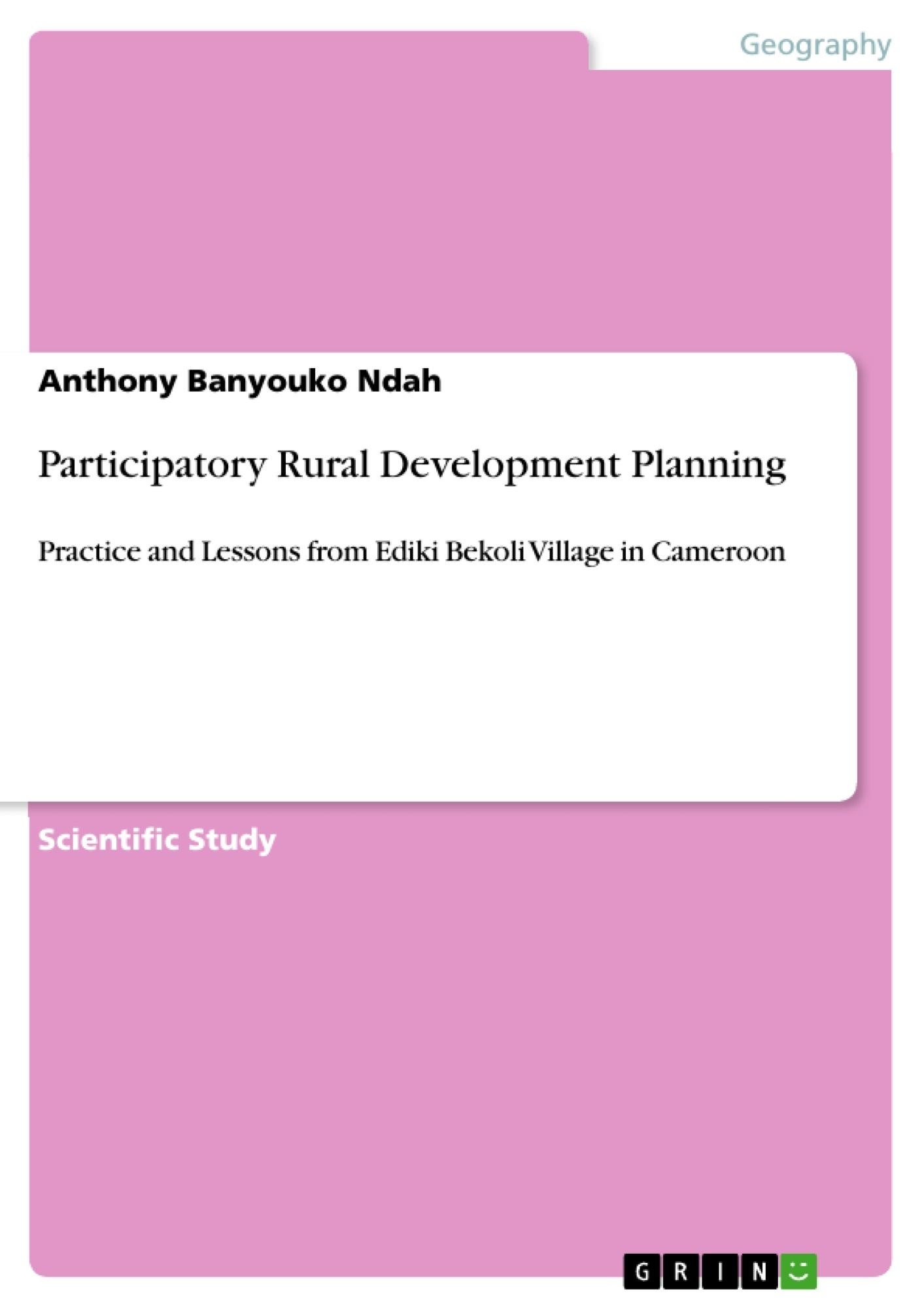 Title: Participatory Rural Development Planning